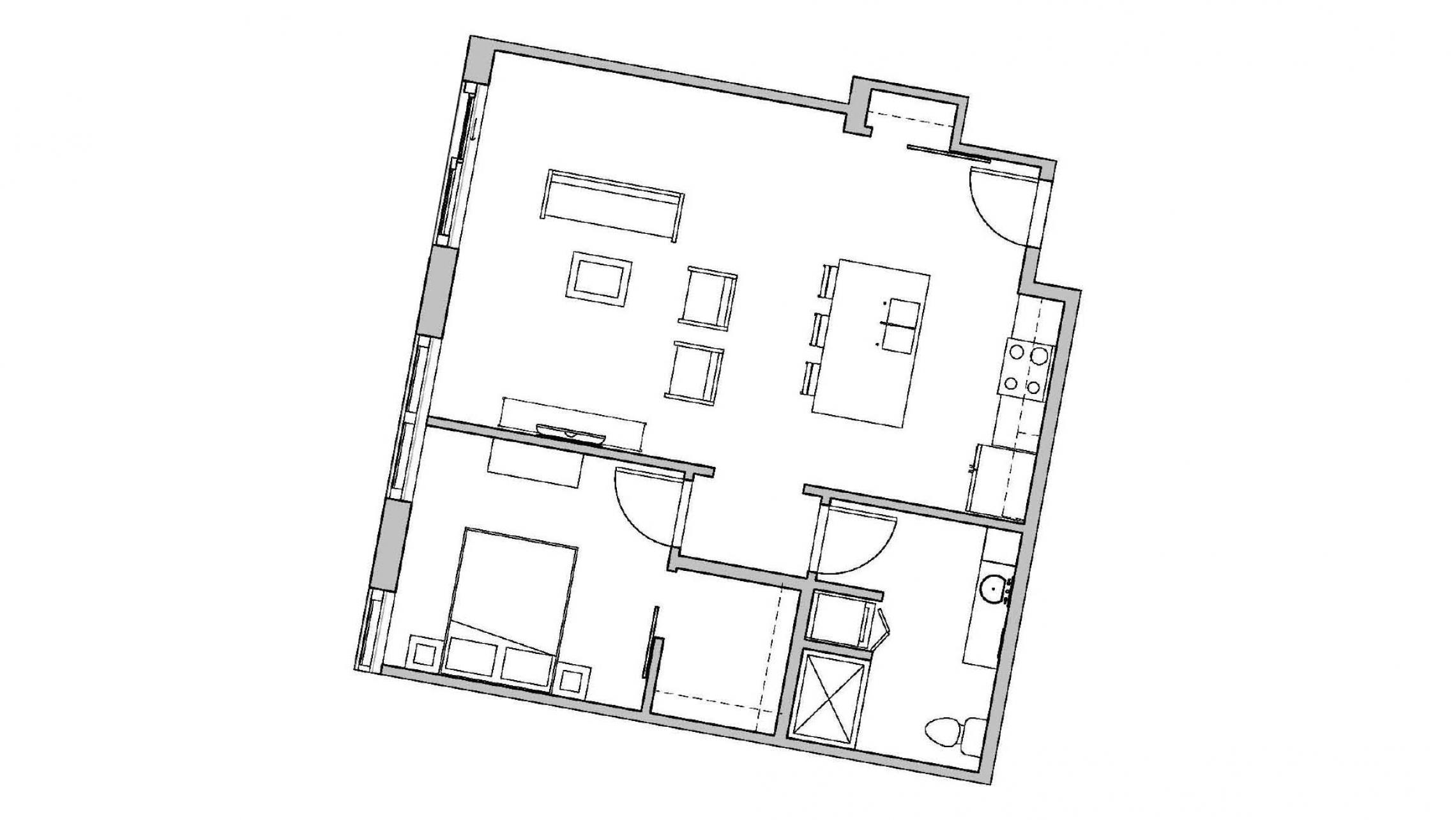 ULI Seven27 431 - One Bedroom, One Bathroom