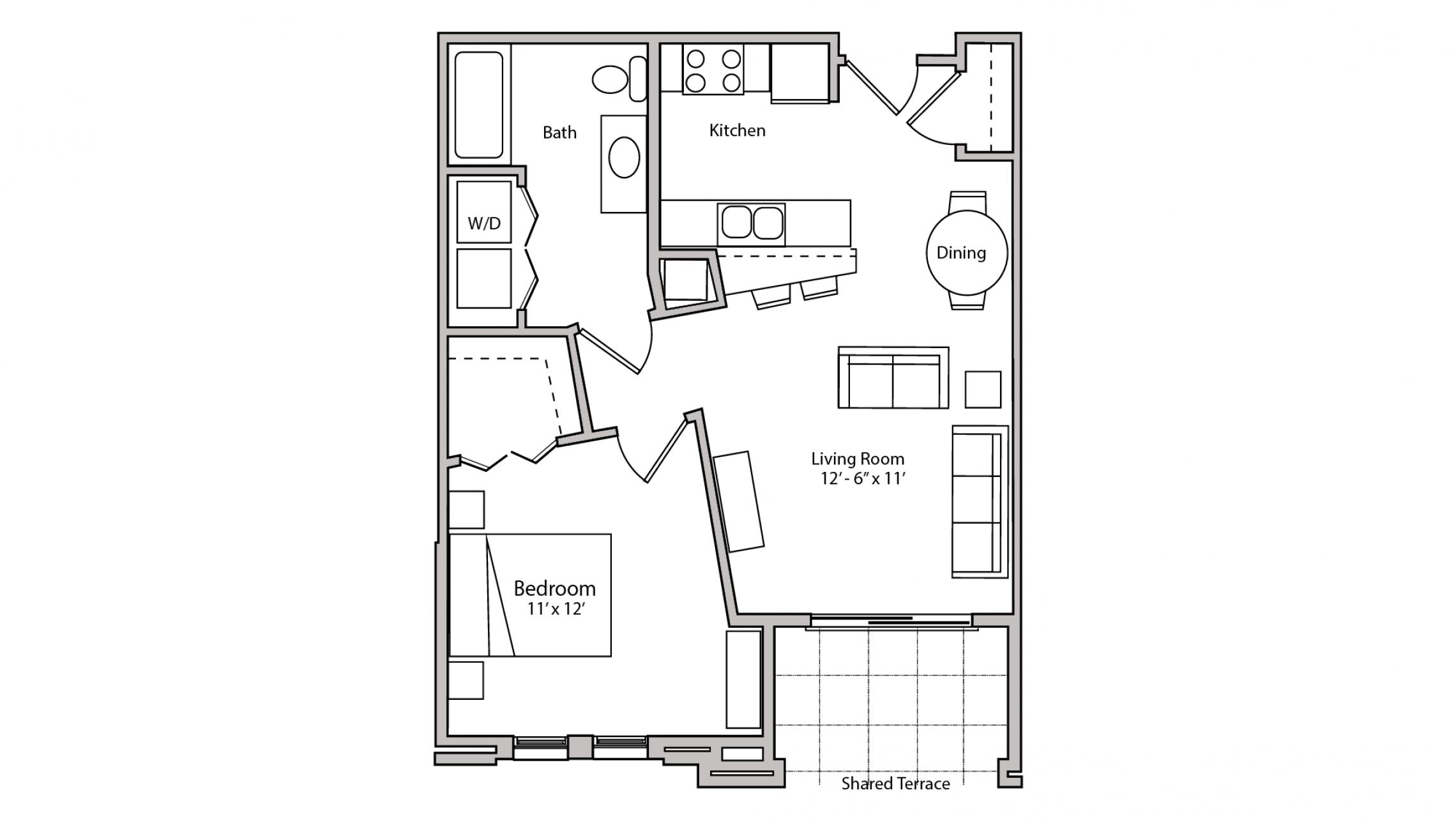 ULI The Depot 1-212 - One Bedroom, One Bathroom