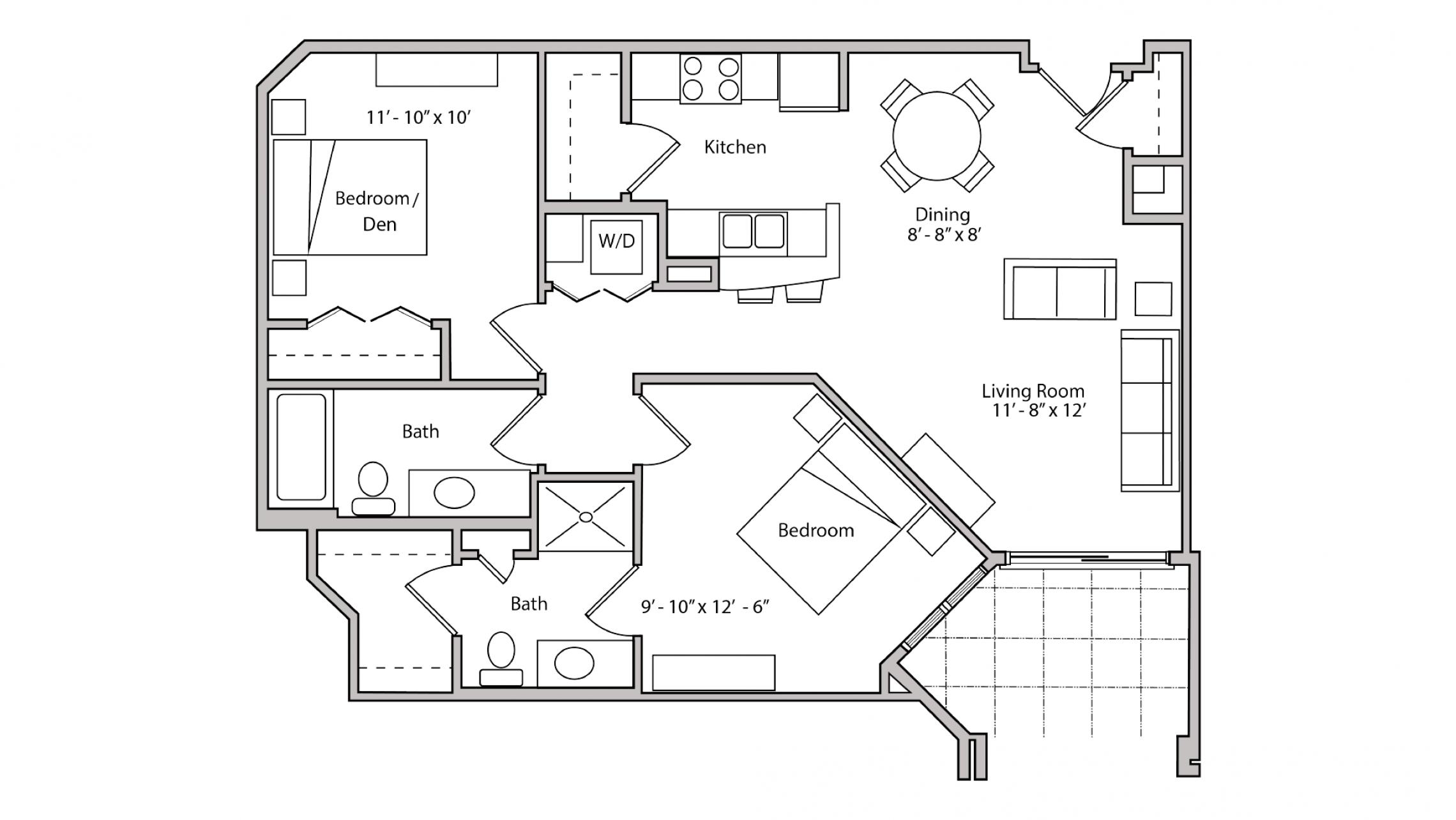 ULI The Depot 1-310 - One Bedroom Plus Den, Two Bathroom