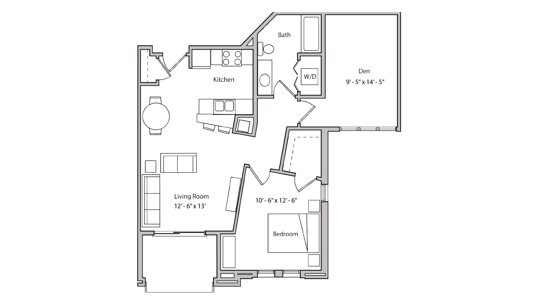 ULI The Depot 1-316 - One Bedroom Plus Den, One Bathroom