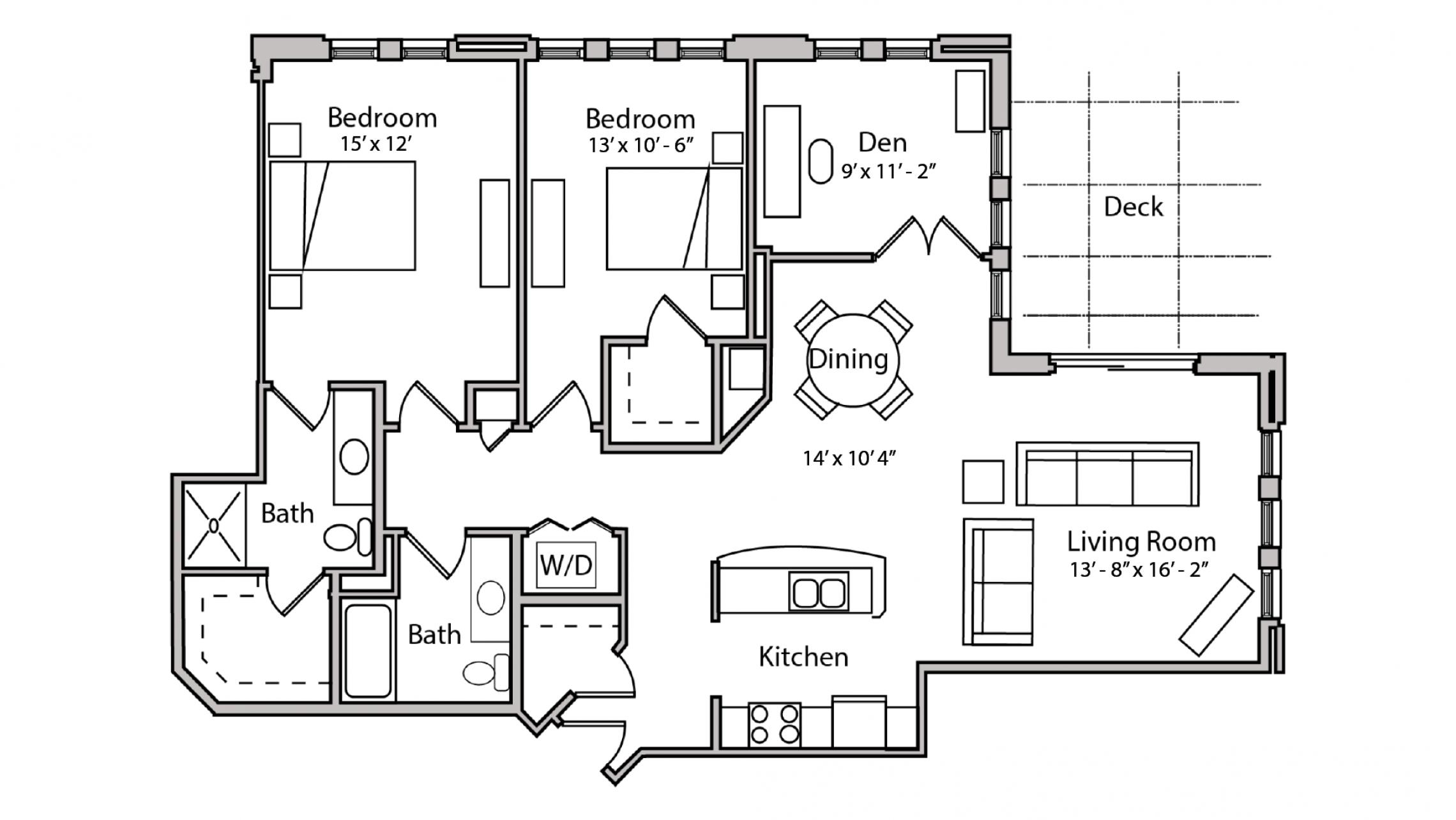 ULI The Depot 1-505 - Two Bedroom Plus Den, Two Bathroom