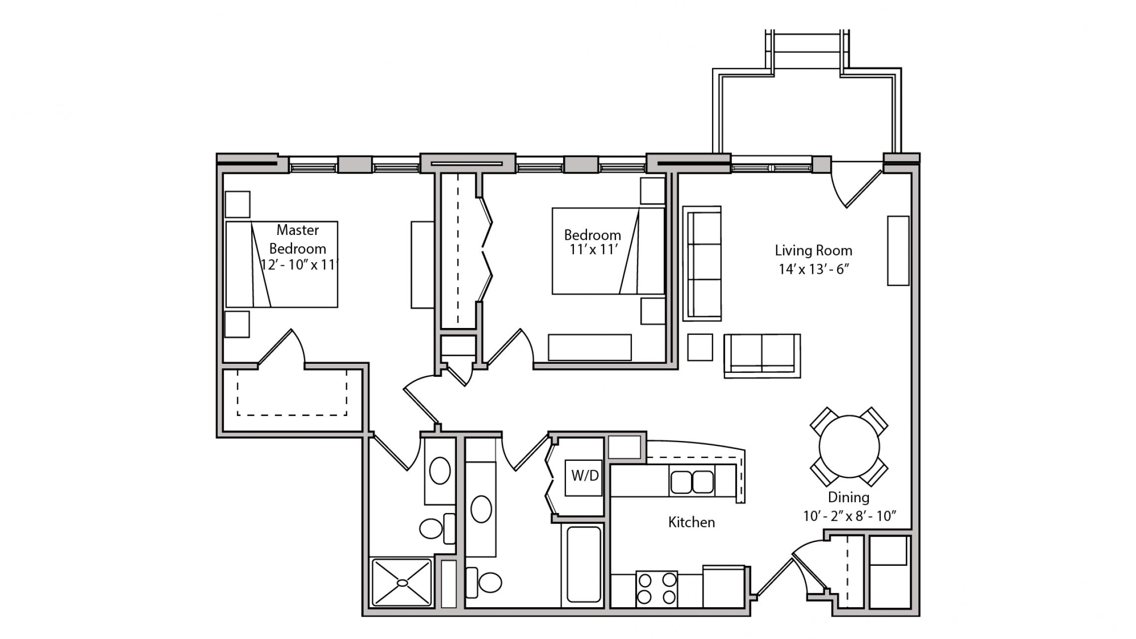 ULI The Depot 2-107 - Two Bedroom, Two Bathroom