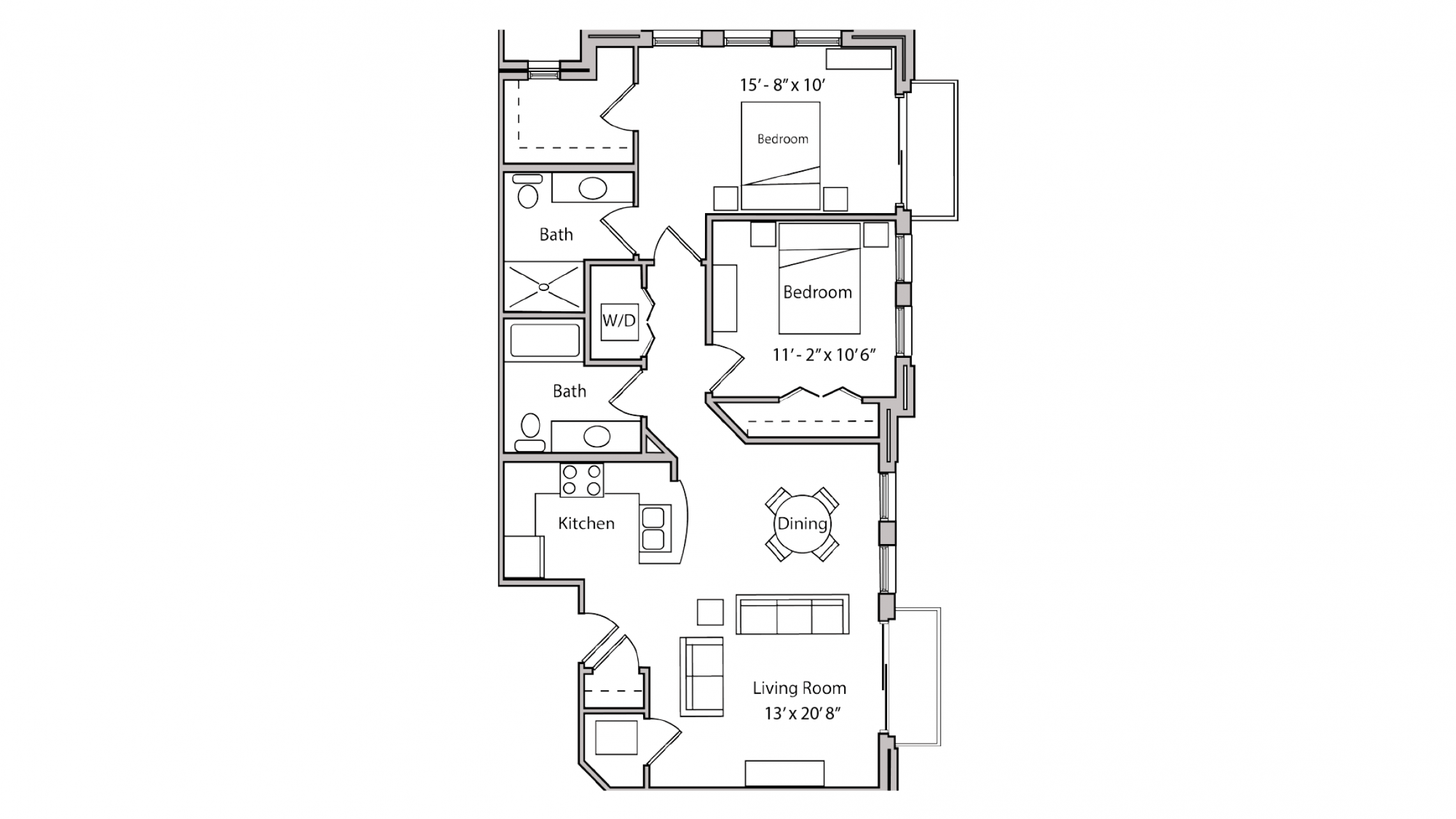 ULI The Depot 2-311 - Two Bedroom, Two Bathroom