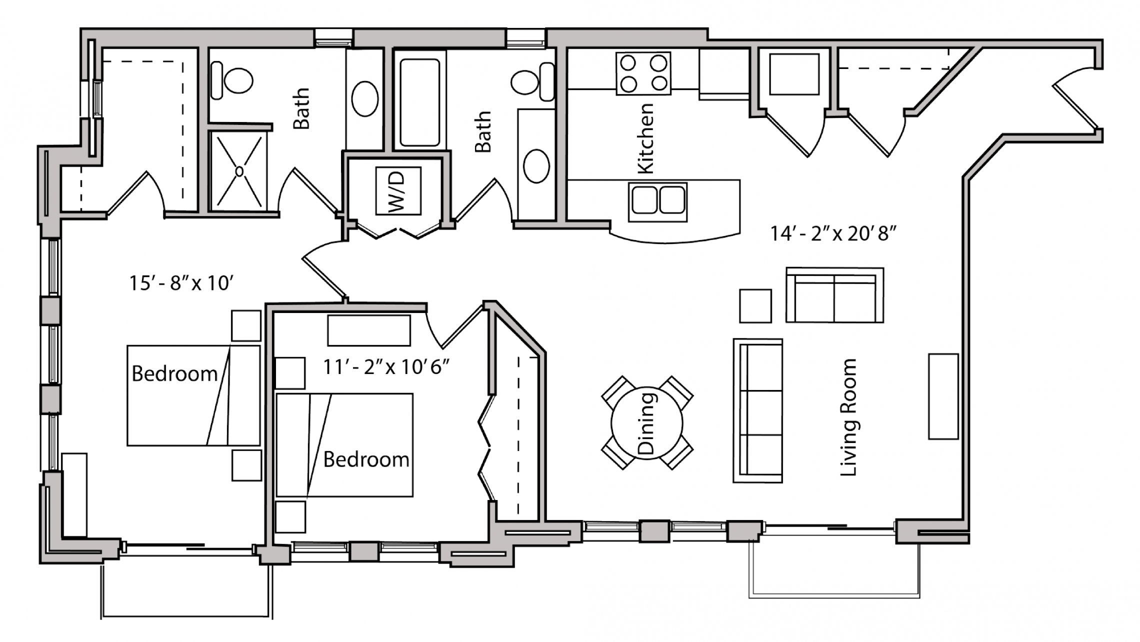 ULI The Depot 3-312 - Two Bedroom, Two Bathroom