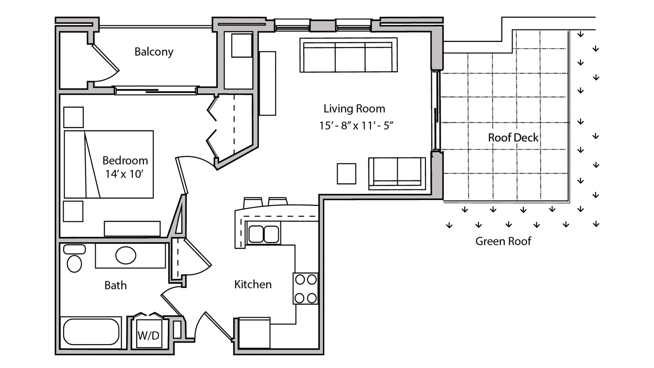 ULI The Depot 2-409 - One Bedroom, One Bathroom