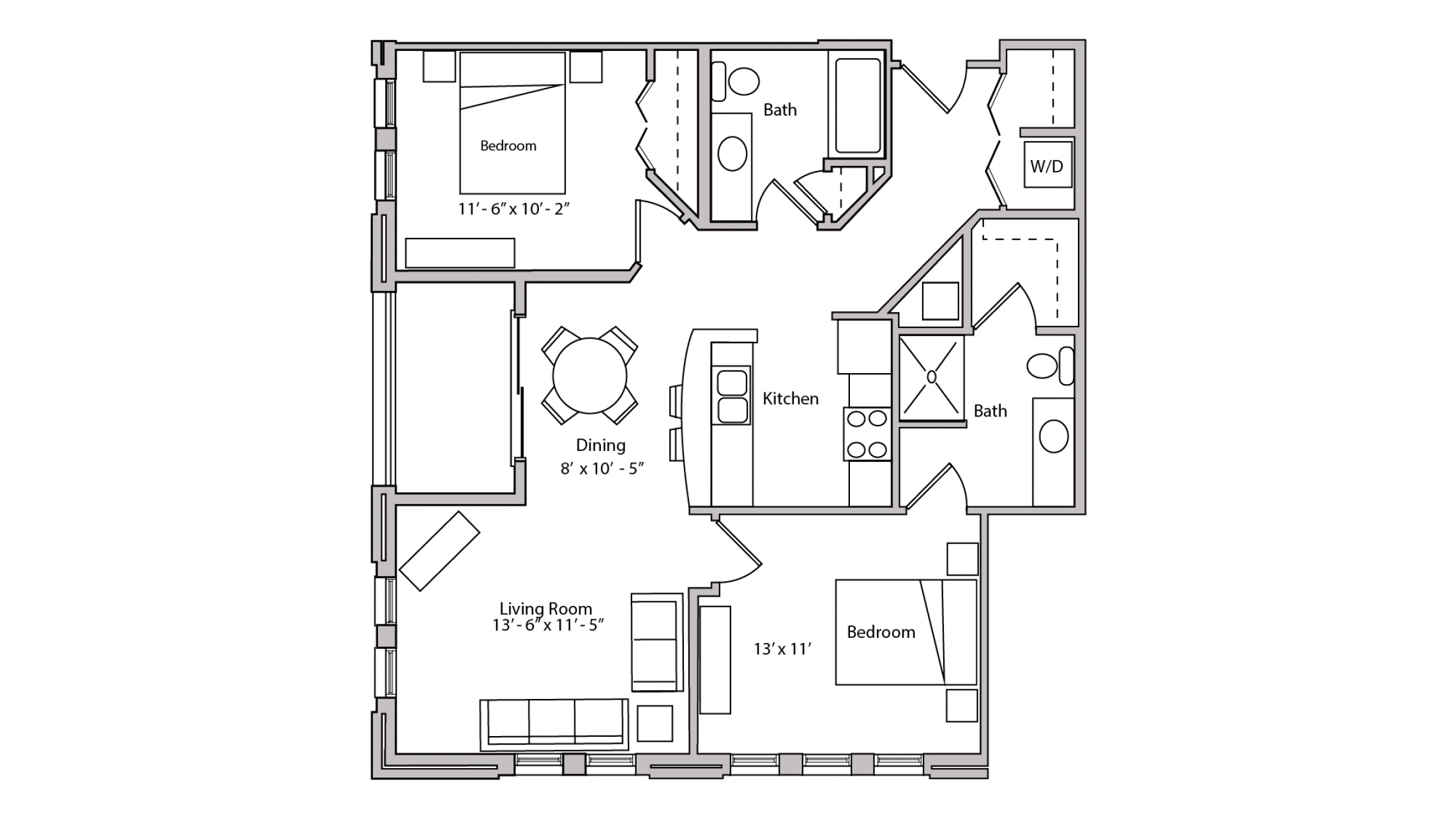 ULI The Depot 1-202 - Two Bedroom, Two Bathroom