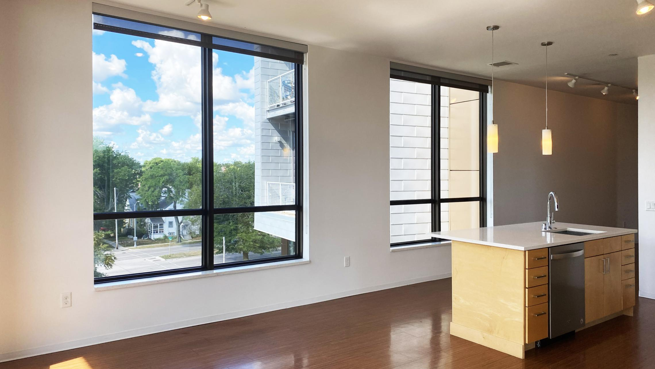 SEVEN27-at-The-Yards-Apartment-440-Two-bedroom-Corner-Lake-View-Modern-Upscale-Design-Balcony-Terrace-Fitness-Lounge-Courtyard-Dogs-Cats