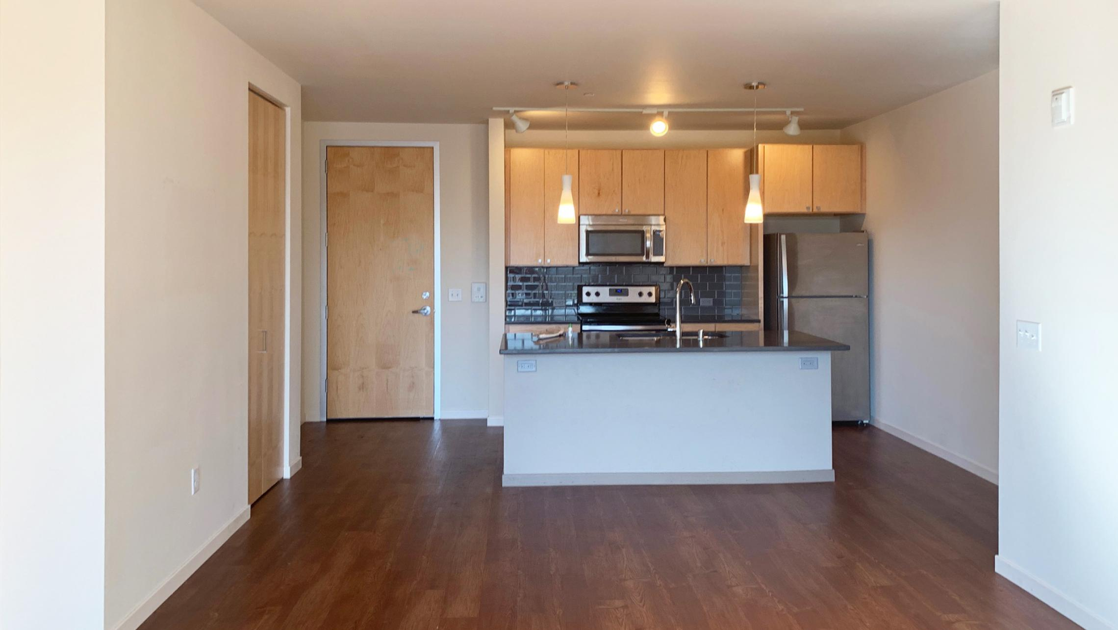 Nine-Line-at-The-Yards-Apartmetn-315-Two-Bedroom-Livng-Kitchen-Bathroom-Balcony-Lake-View-Modern-Upscale-Luxury-Fitness-Gym-Pets-Bike-Path-Downtown-Madison