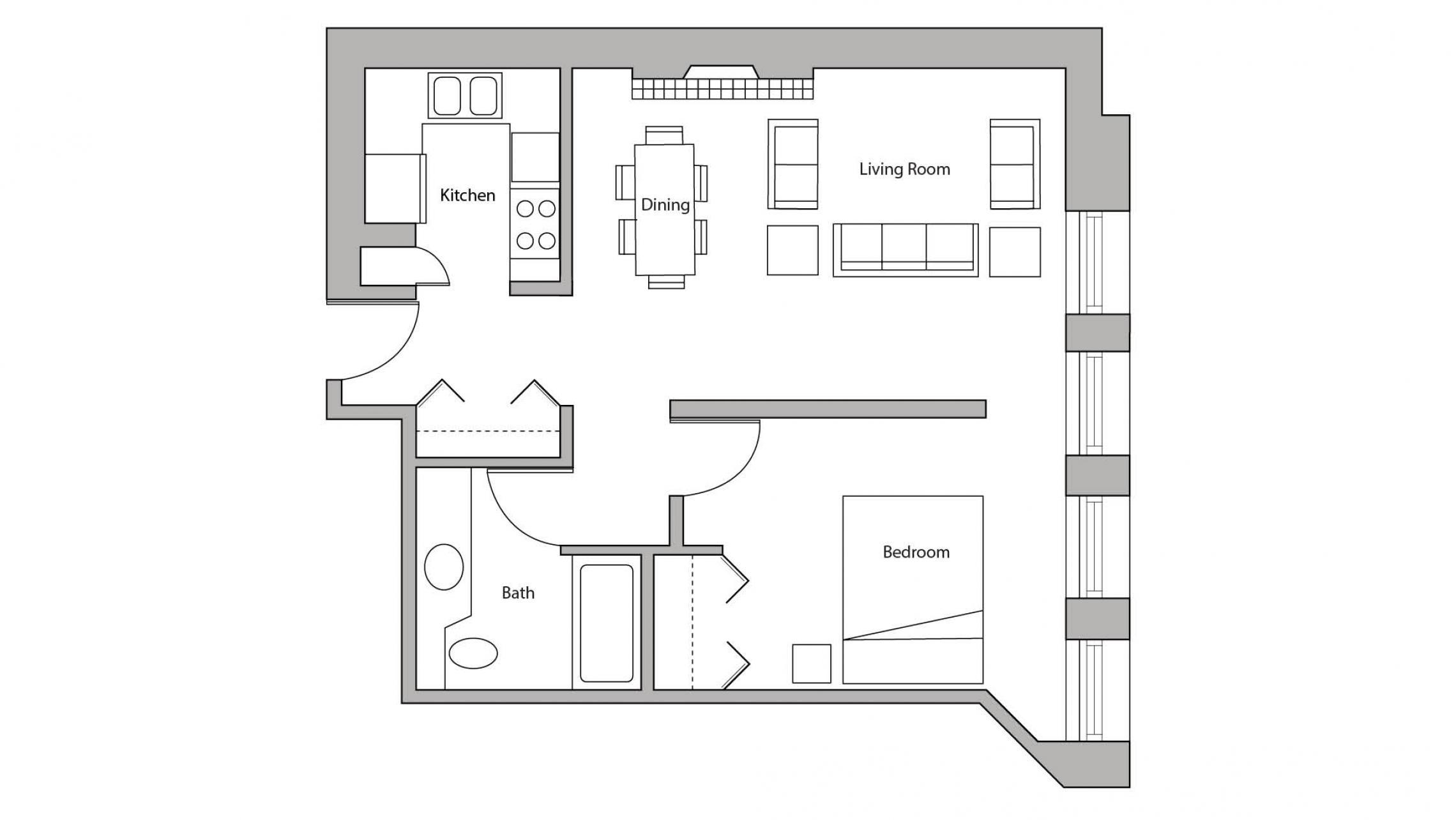 ULI Lincoln School 405 - One Bedroom, One Bathroom