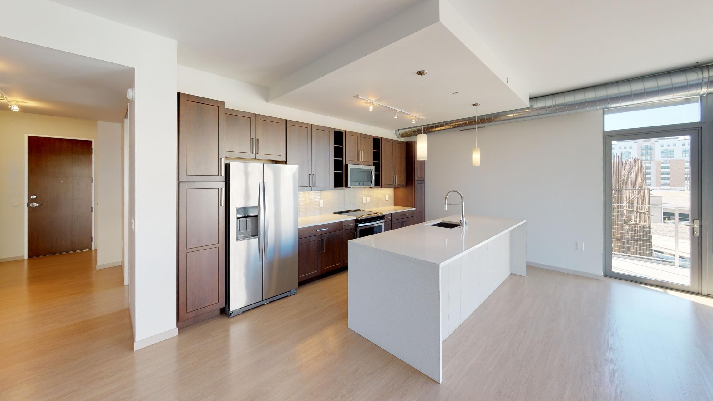 Pressman-Kitchen-Apartment-512-Two-Bedroom-Downtown-Upscale-Luxury-Capitol-View-Balcony-Corner-Lake-Madison