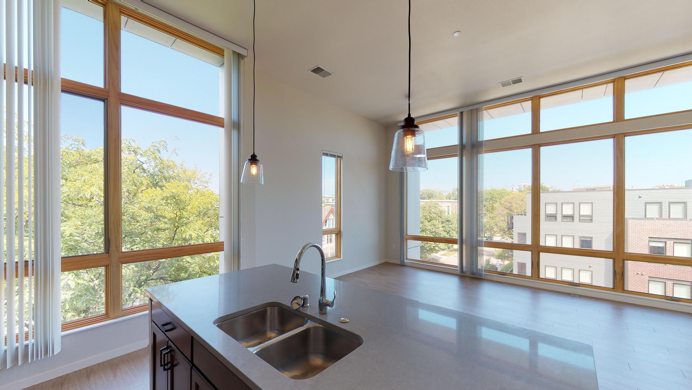 Quarter-Row-Apartments-Downtown-Madison-Monona-By-Lake-Capitol-Views-Coffee-Work-Space-Shuffleboard-Games-Modern-Luxury-Design-Apartment-415-Two-Bedroom