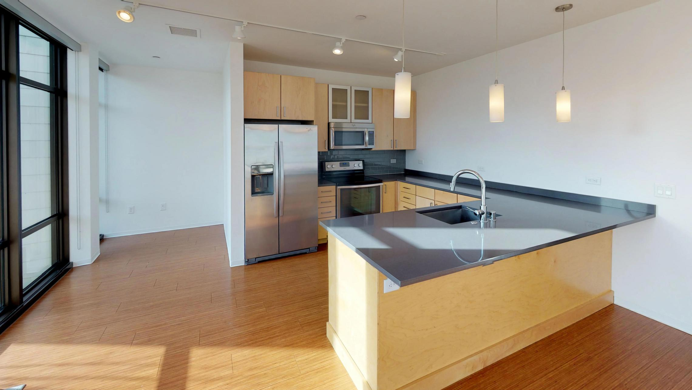 Two bedroom-lake view- corner-modern-upscale-downtown-madison