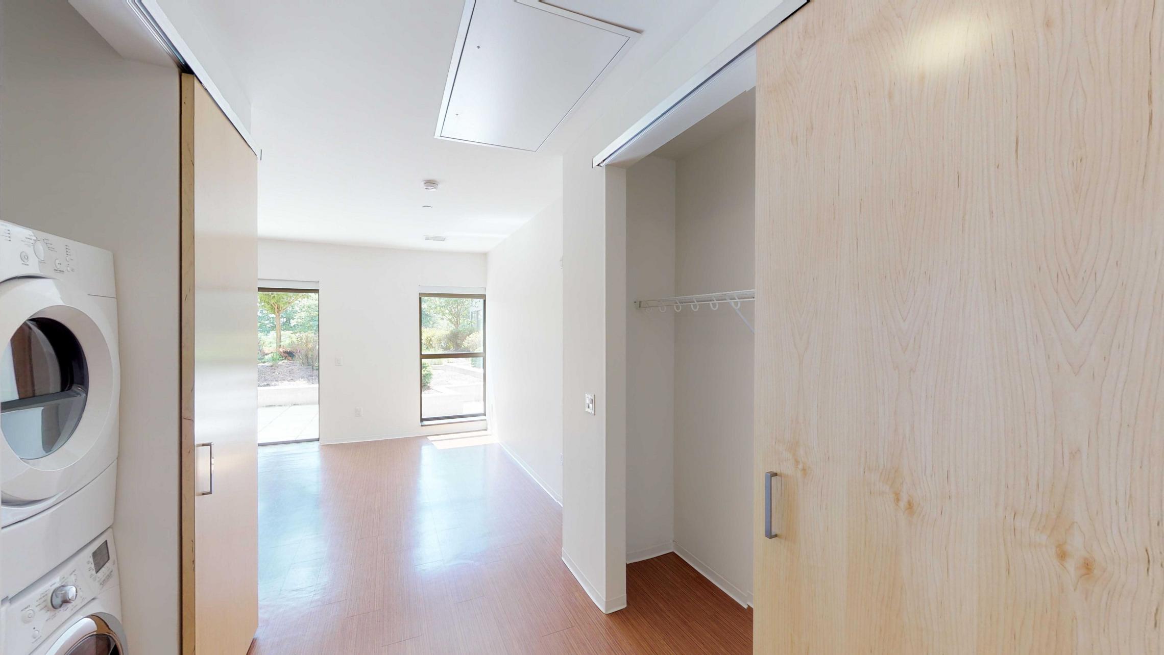 SEVEN27-Apartment-115-studio-lake view-modern-upscale-downtown-madison-patio-courtyard-closet-storage.jpg