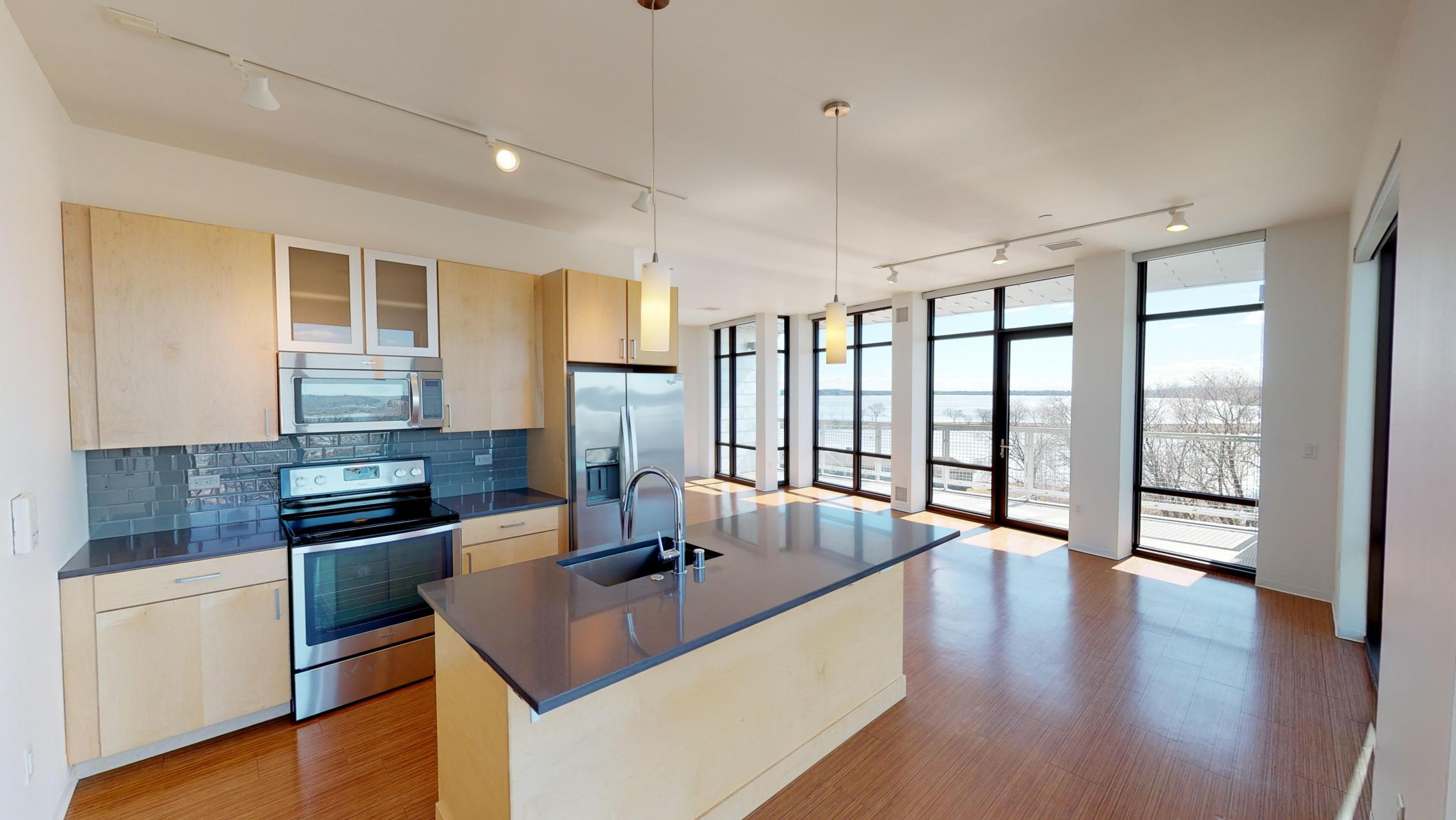 SEVEN27-Apartment-540-Two-bedroom-Modern-Upscale-Views-City-Downtown-Madison-Lake-Terrace-Living
