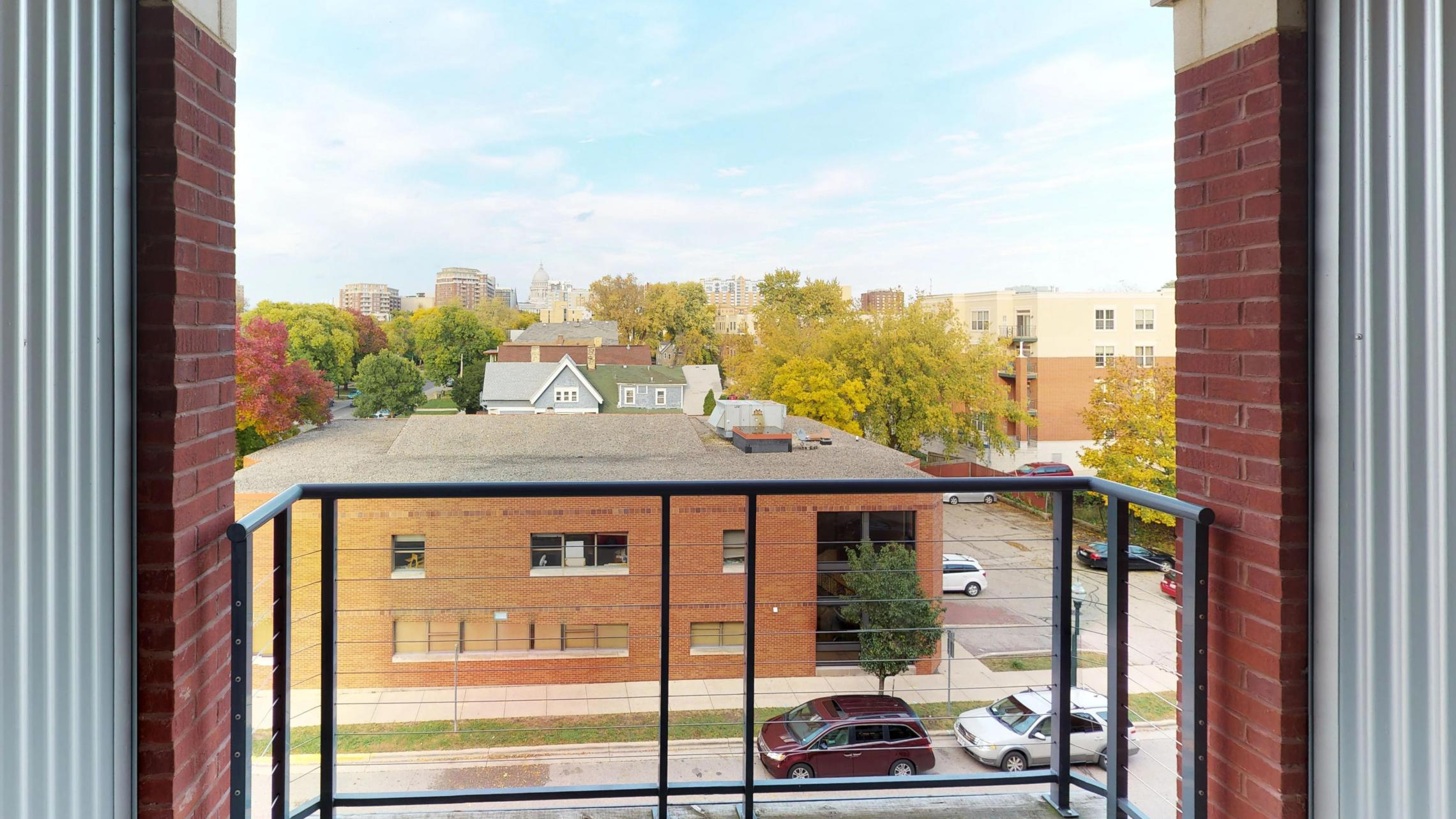 The-Depot-Apartments-Downtown-Madison-Lifestyle-Large-Closet-Bike-Storage-Washington-Ave-Style-Design-Balcony-Apartment-1-409-One-Bedroom