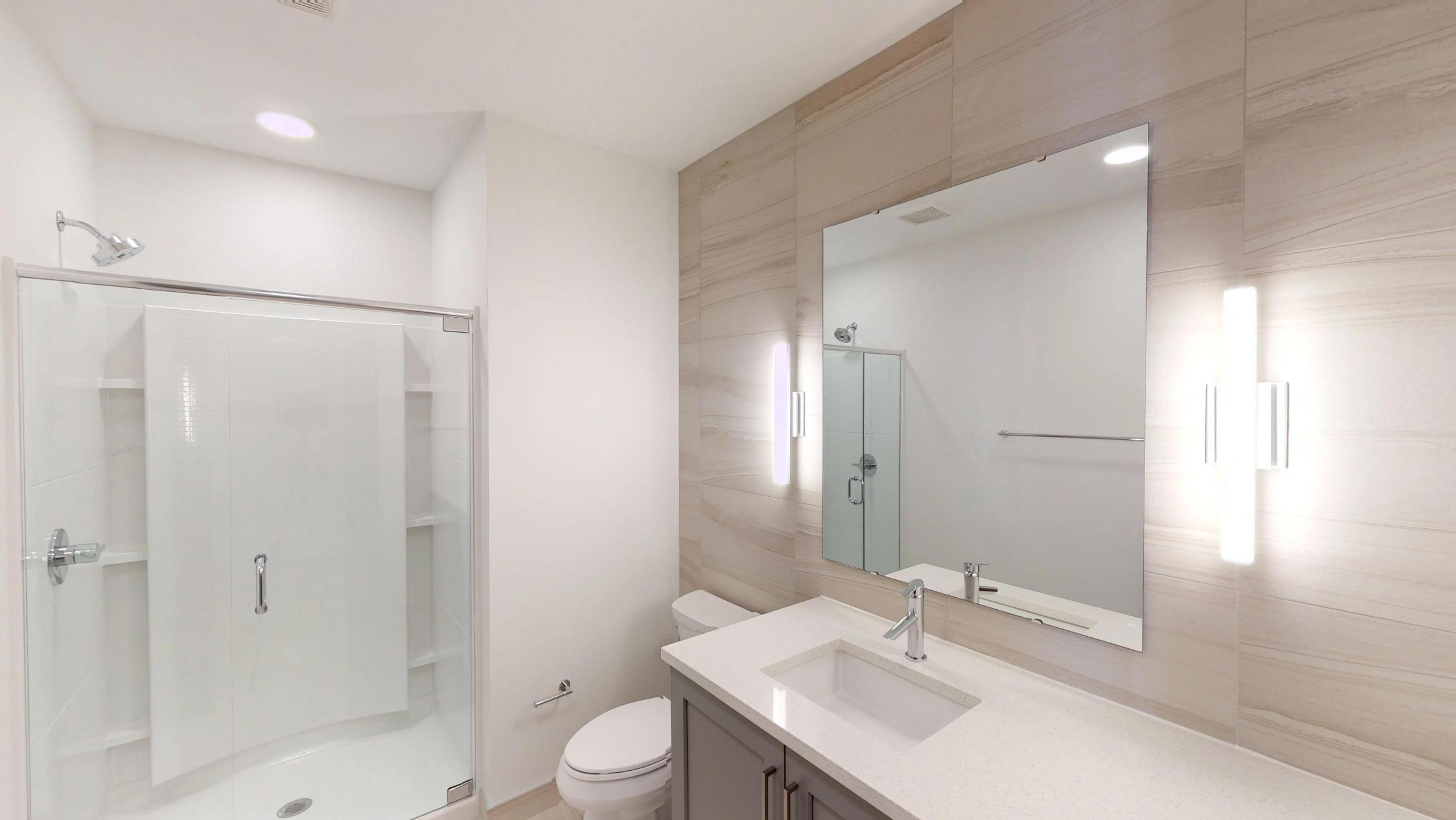 The-Pressman-Apartment-512-Two-Bedroom-Living-Room-View-Kitchen-Island-Downtown-Madison-Capitol-Balcony-Bathroom-Vanity