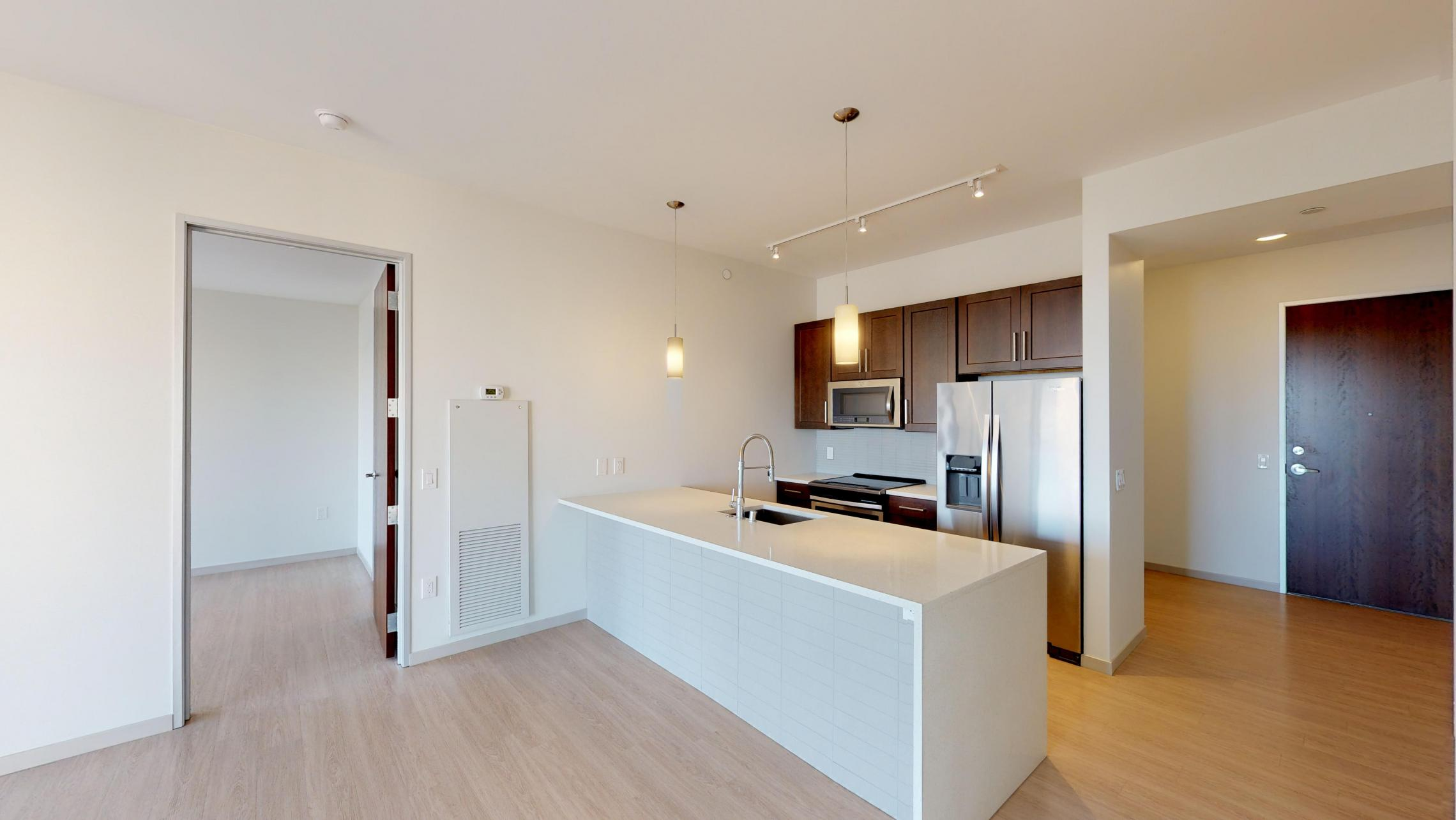 The-Pressman-Apartment-711-One-Bedroom-Lake-View-Downtown-Madison-Luxury-Upscale-Modern-High-Rise-Lifestyle-Concrete-Home