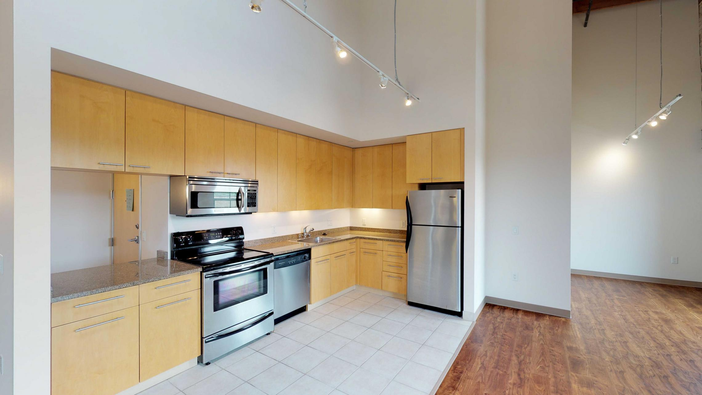 Tobacco-Lofts-Apartment-E306-Kitchen-Lofted-Two-Bedroom-Madison-Historic-Yards-Downtown-Exposed-brick.jpg