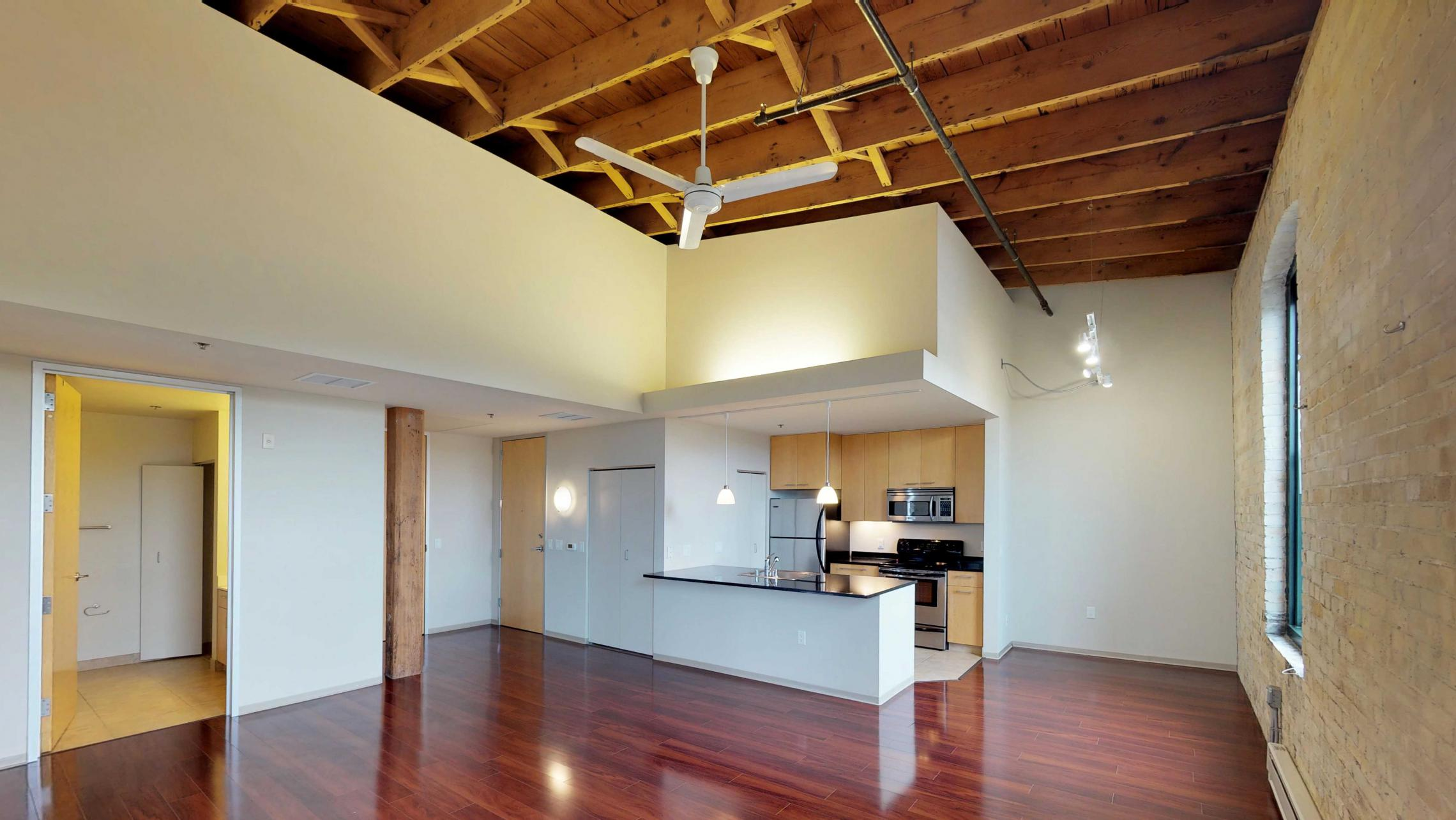 Tobacco-Lofts-Two-Bedroom-Apartment-E312-Historic-Downtown-Madison-Living-Room-Kitchen-Design-Yards