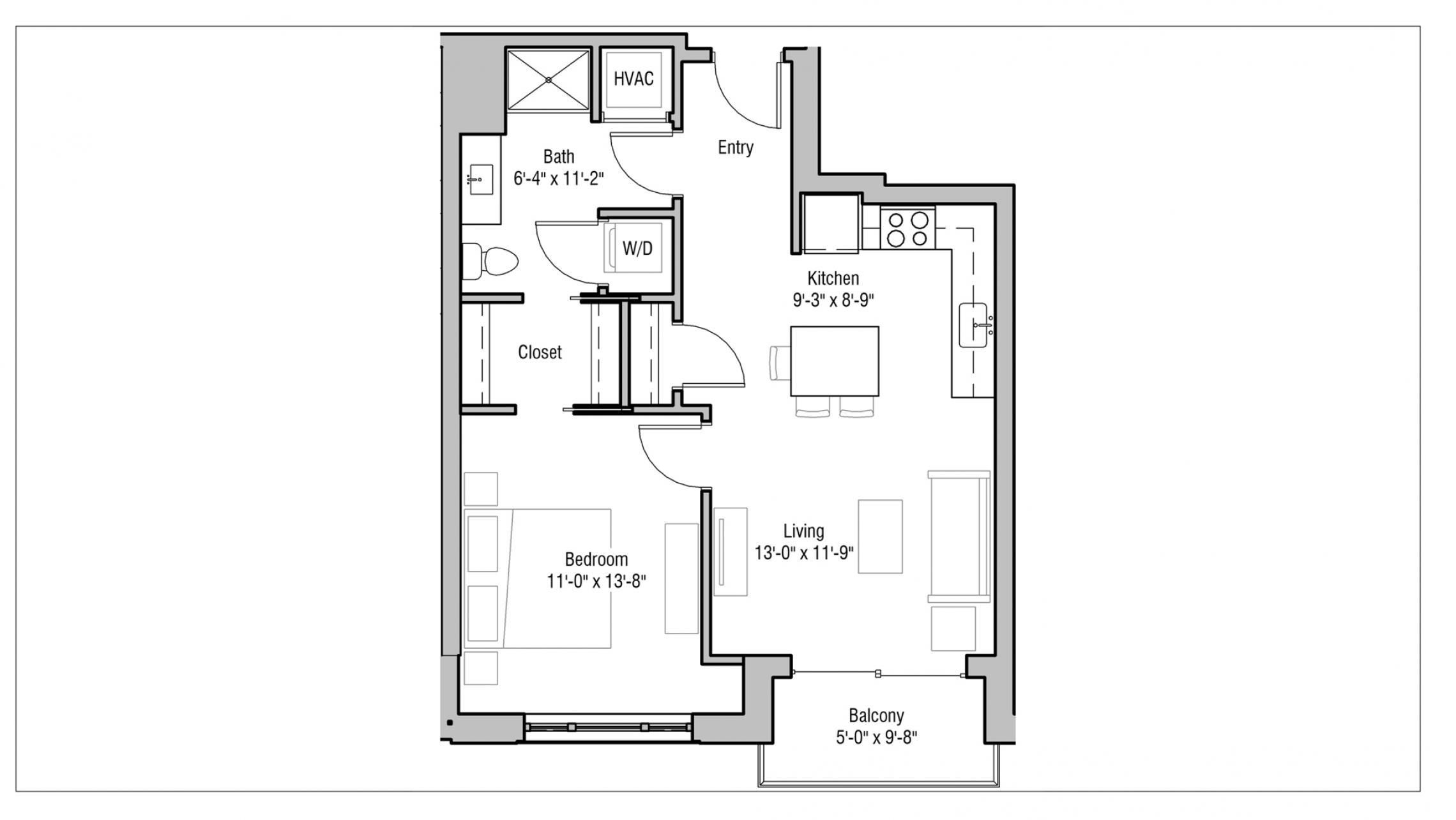 ULI 1722 Monroe 203 - One Bedroom, One Bathroom