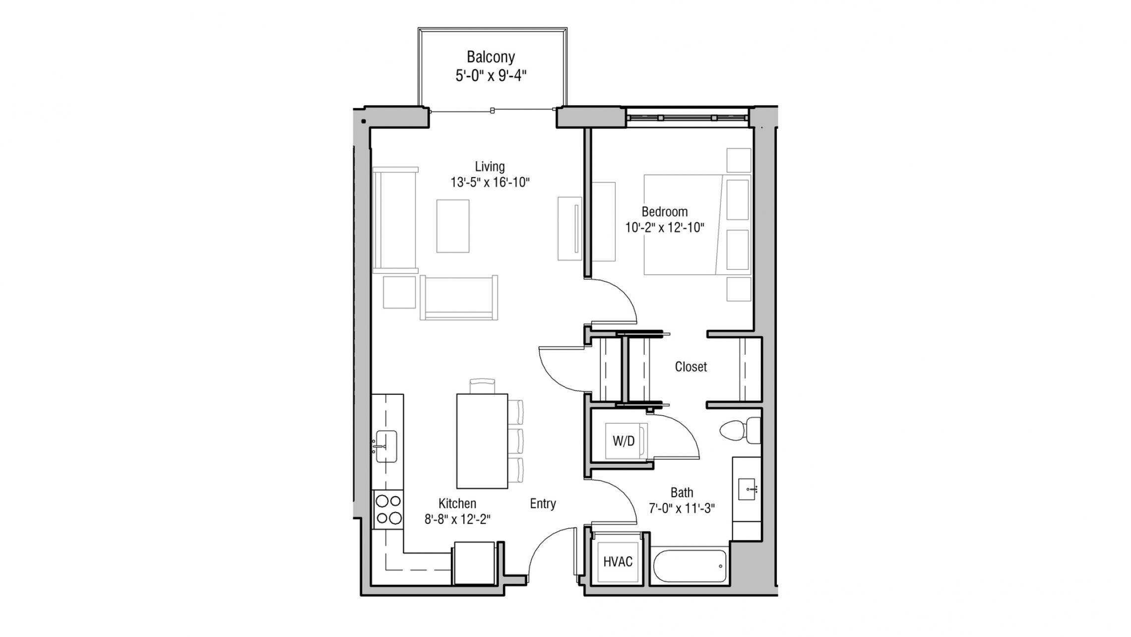 ULI 1722 Monroe 206 - One Bedroom, One Bathroom