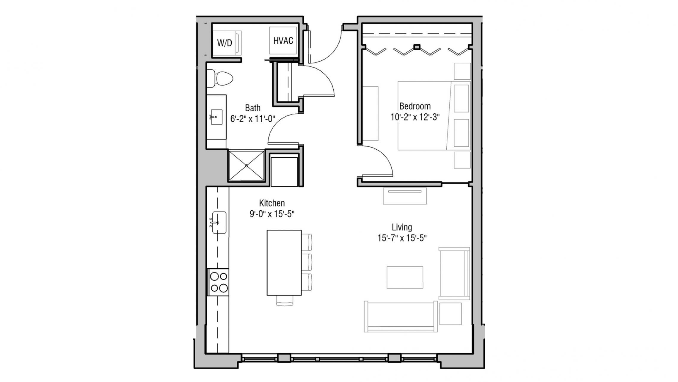 ULI 1722 Monroe 209 - One Bedroom, One Bathroom