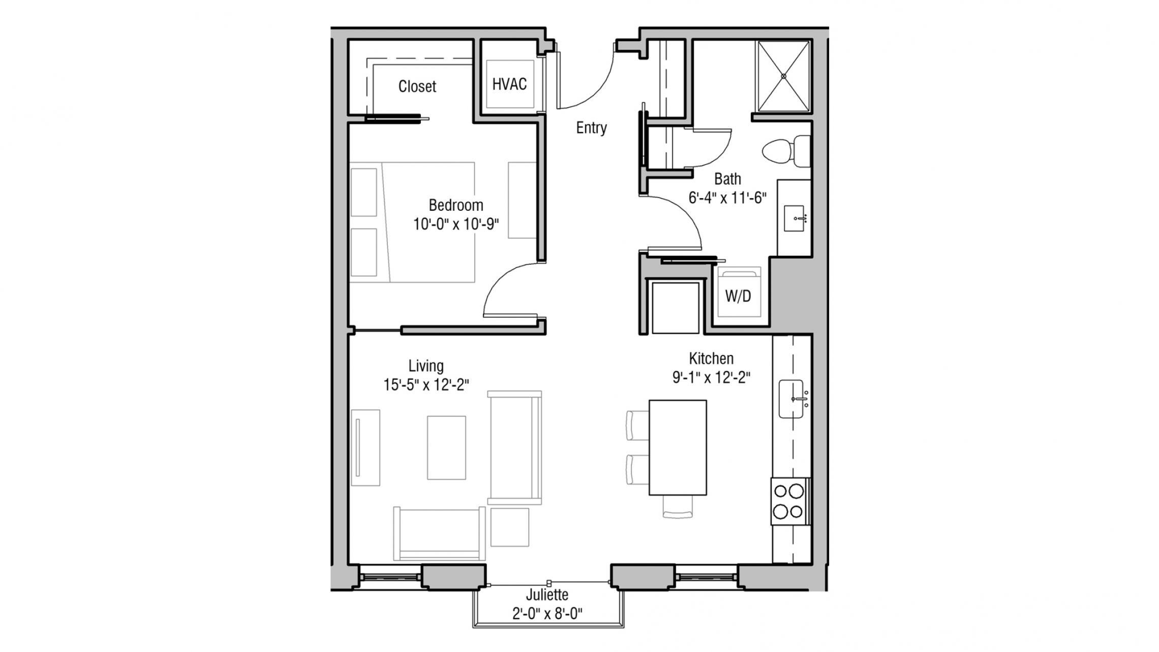 ULI 1722 Monroe 211 - One Bedroom, One Bathroom