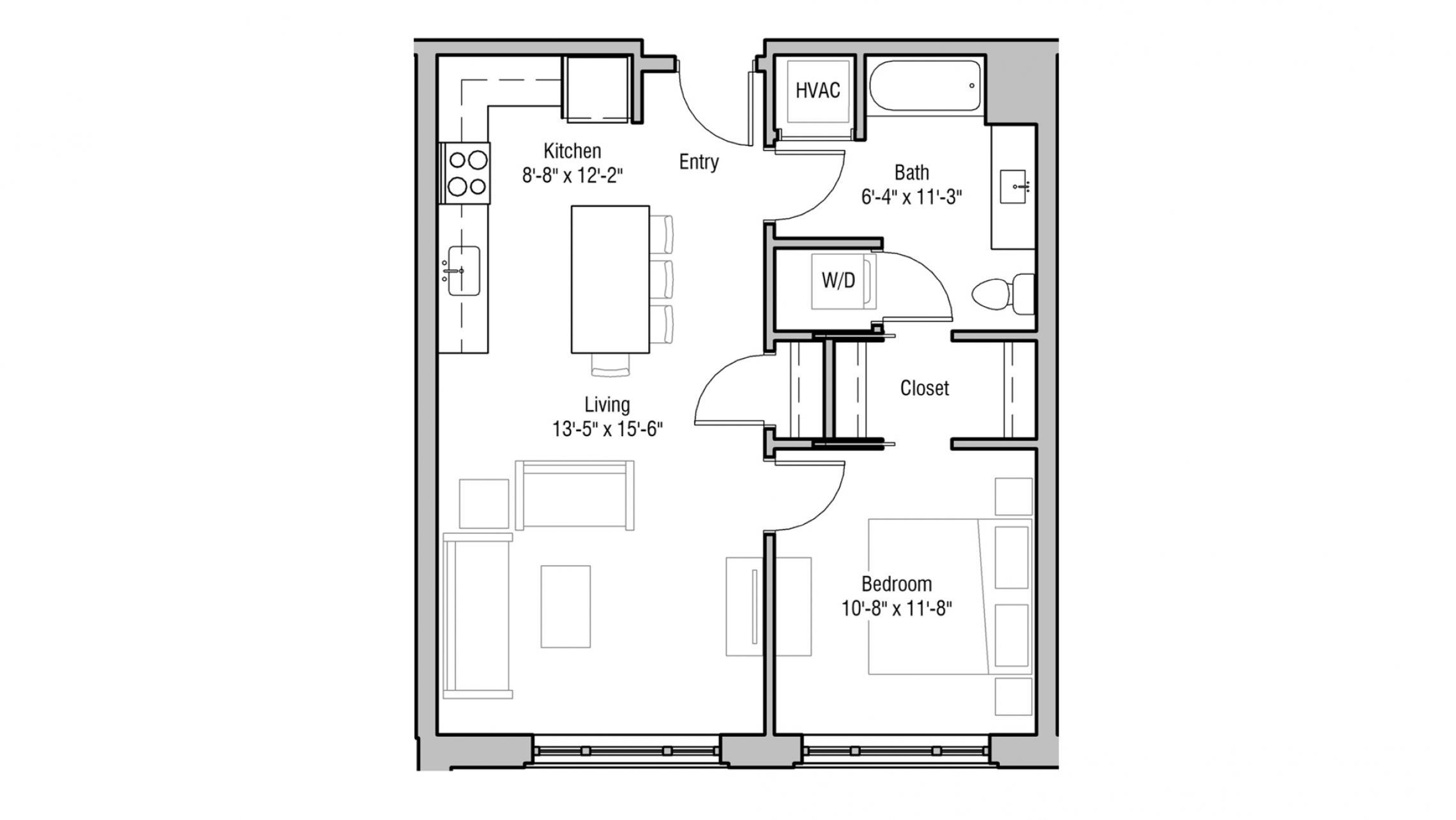 ULI 1722 Monroe 213 - One Bedroom, One Bathroom