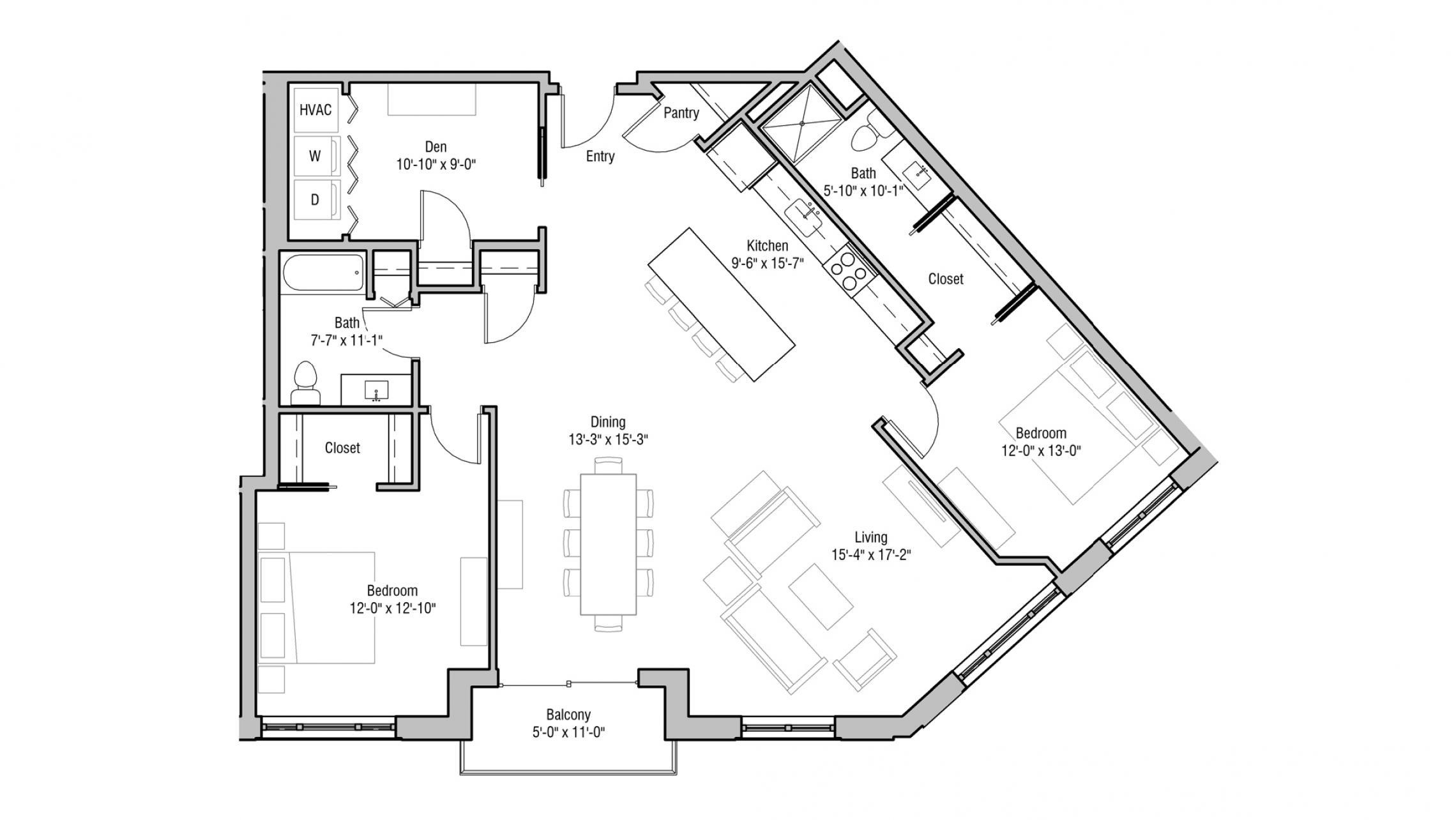 ULI 1722 Monroe 217 - Two Bedroom, Two Bathroom