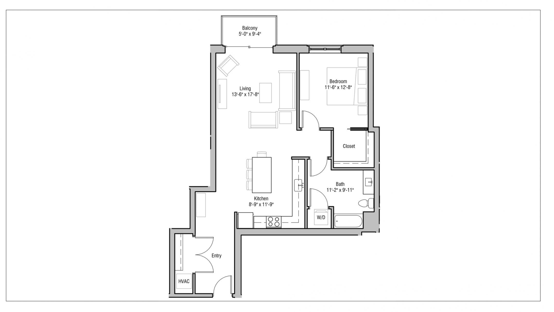 ULI 1722 Monroe 218 - One Bedroom, One Bathroom