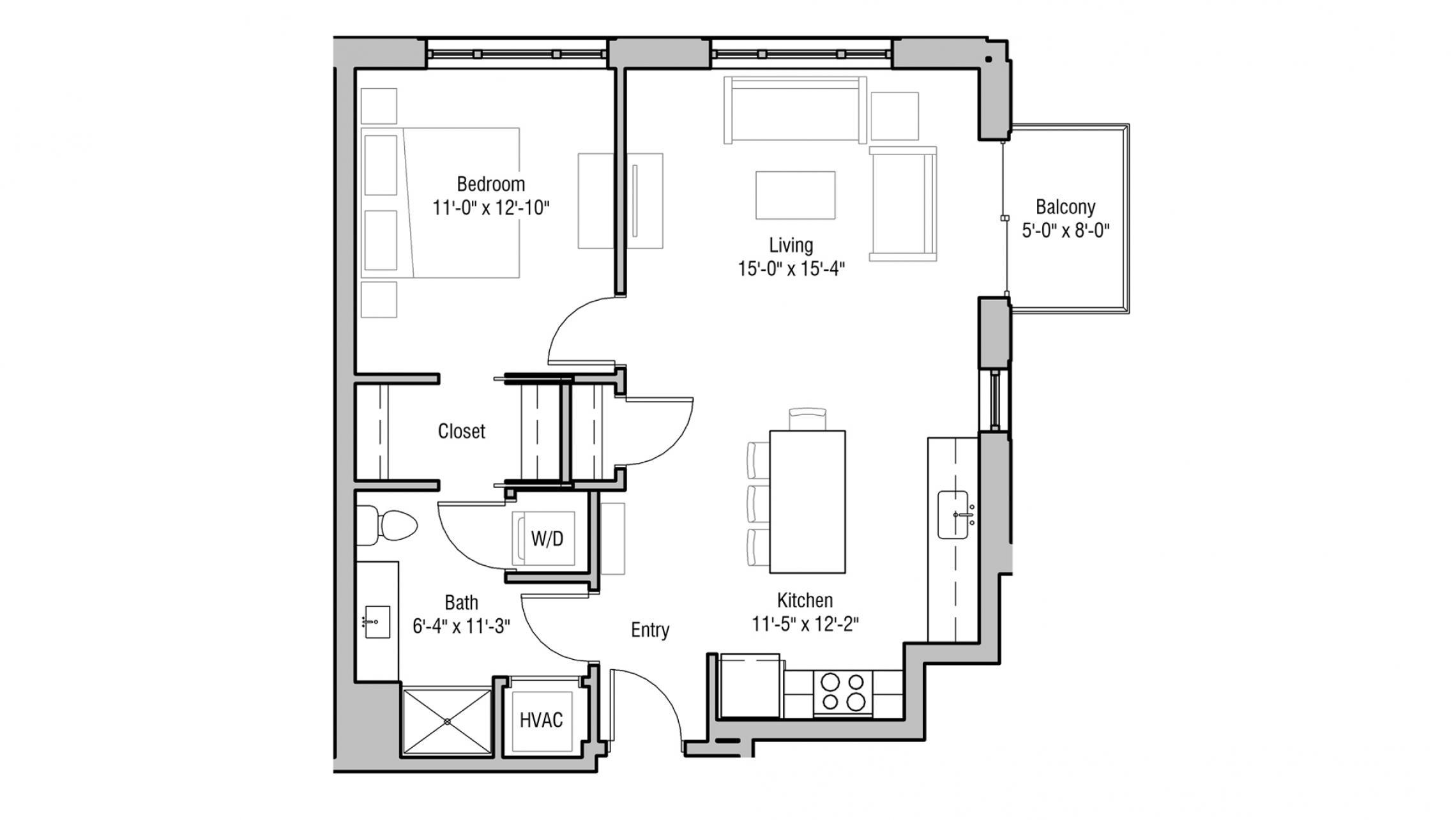 ULI 1722 Monroe 302 - One Bedroom, One Bathroom