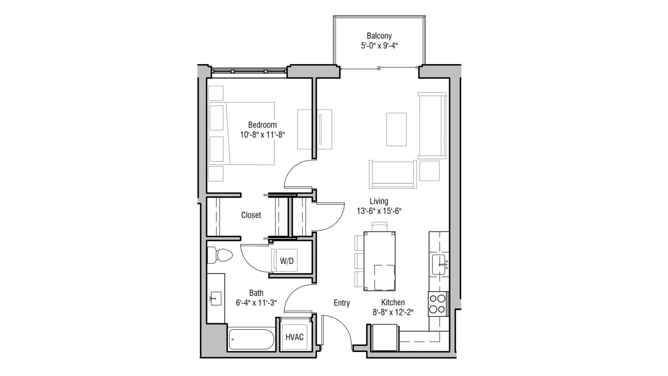 ULI 1722 Monroe 308 - One Bedroom, One Bathroom