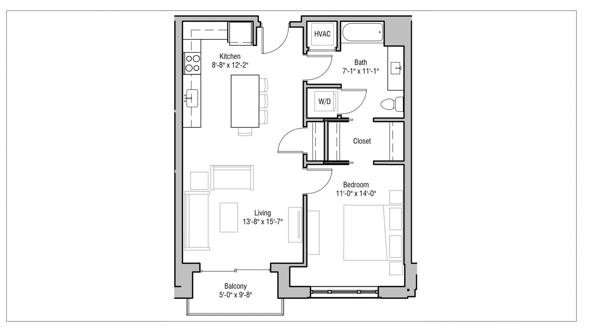 ULI 1722 Monroe 315 - One Bedroom, One Bathroom