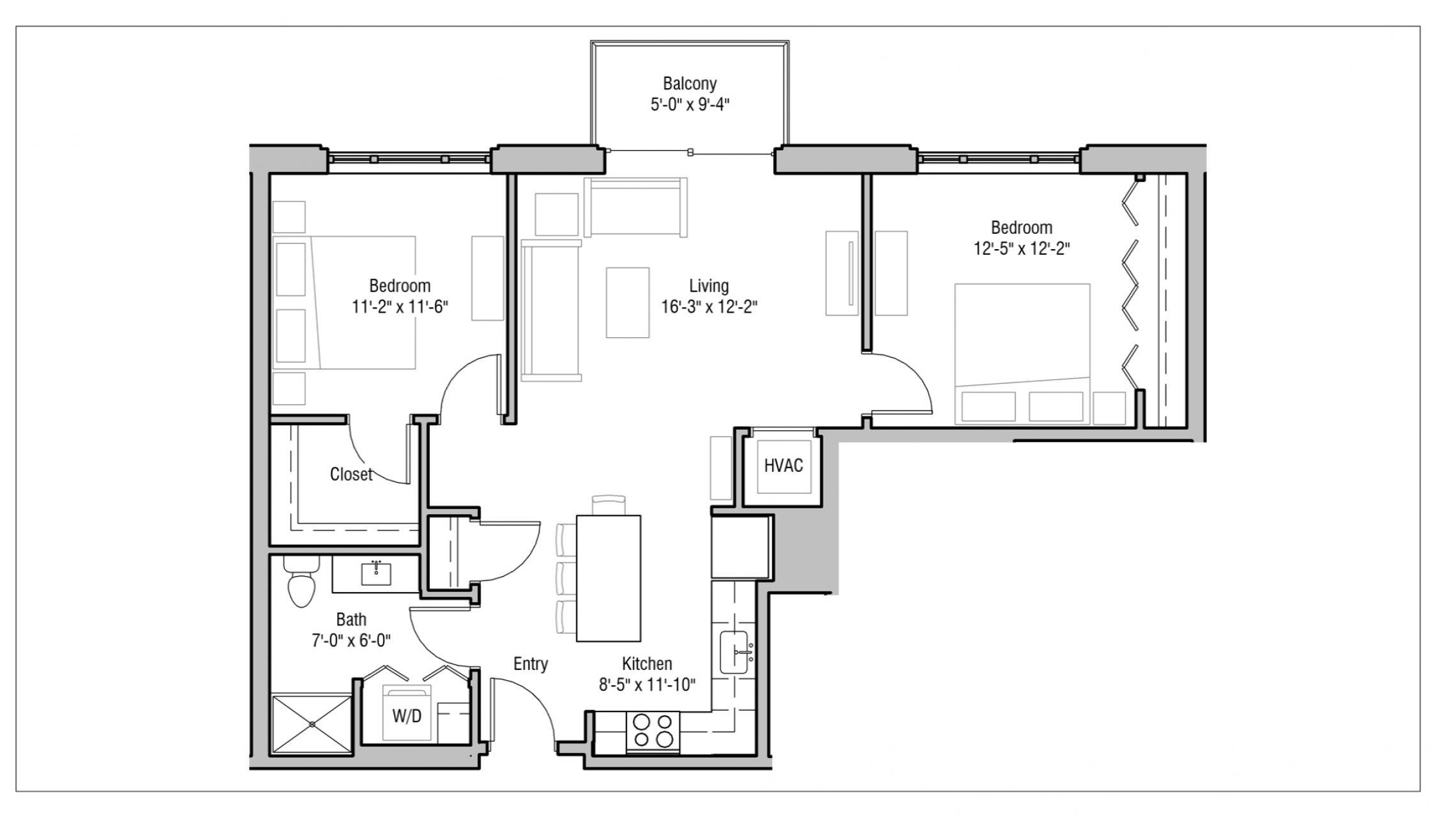 ULI 1722 Monroe 412 - Two Bedroom, Two Bathroom