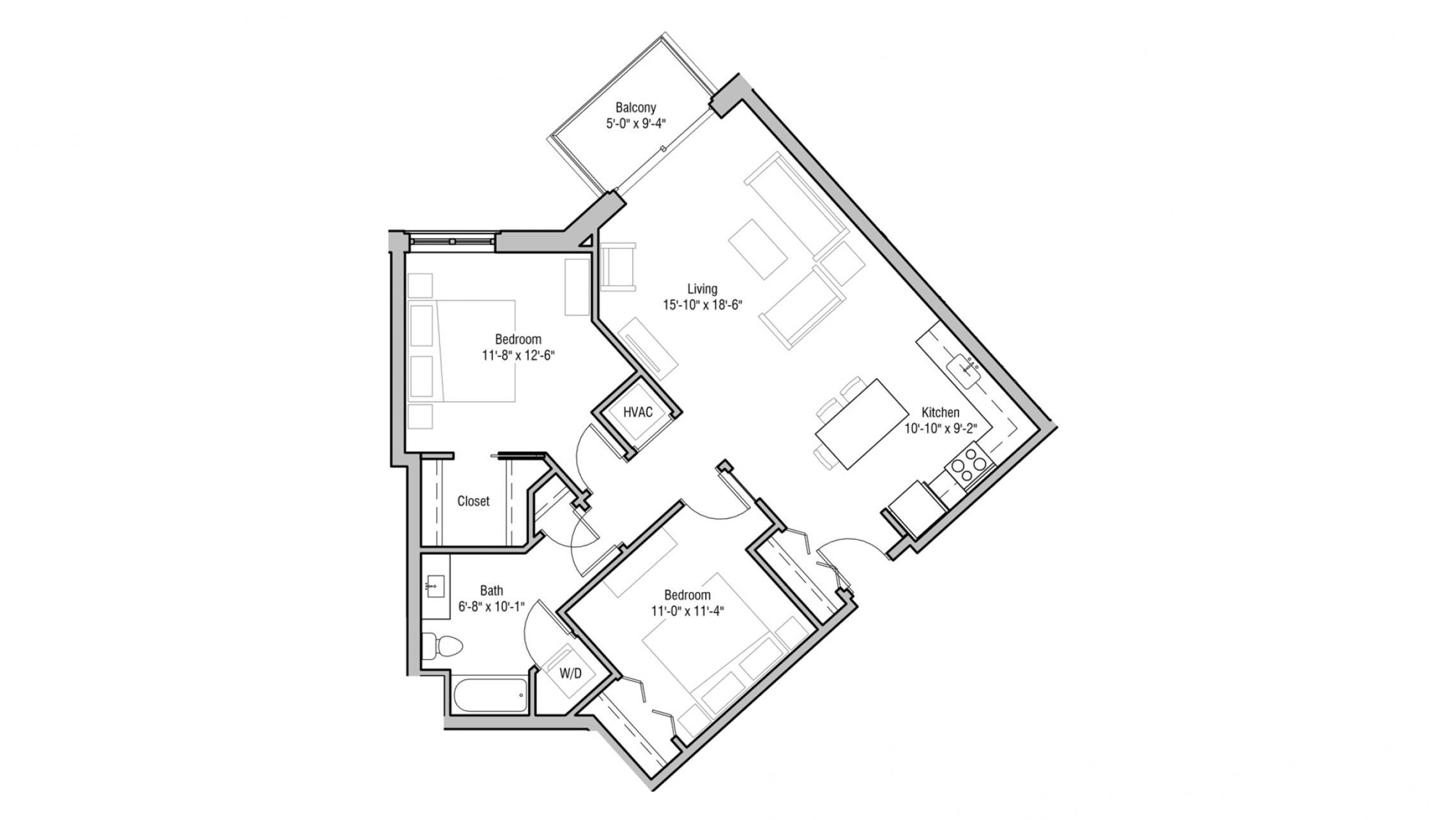 ULI 1722 Monroe 414 - Two Bedroom, Two Bathroom