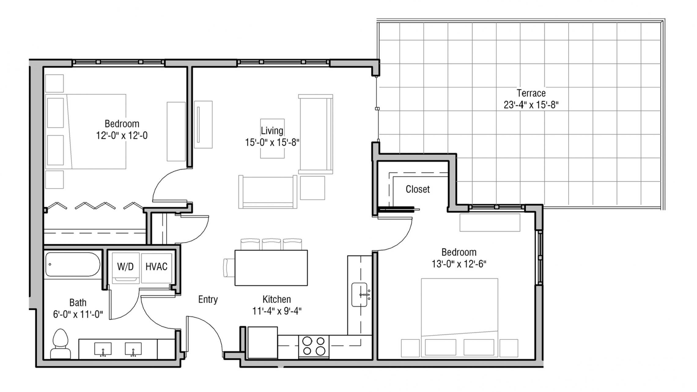 ULI 1722 Monroe 506 - Two Bedroom, Two Bathroom
