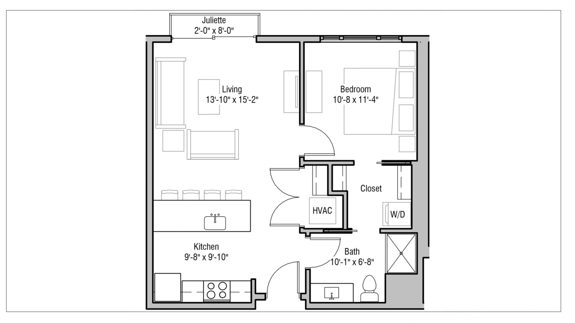 ULI 1722 Monroe 508 - One Bedroom, One Bathroom
