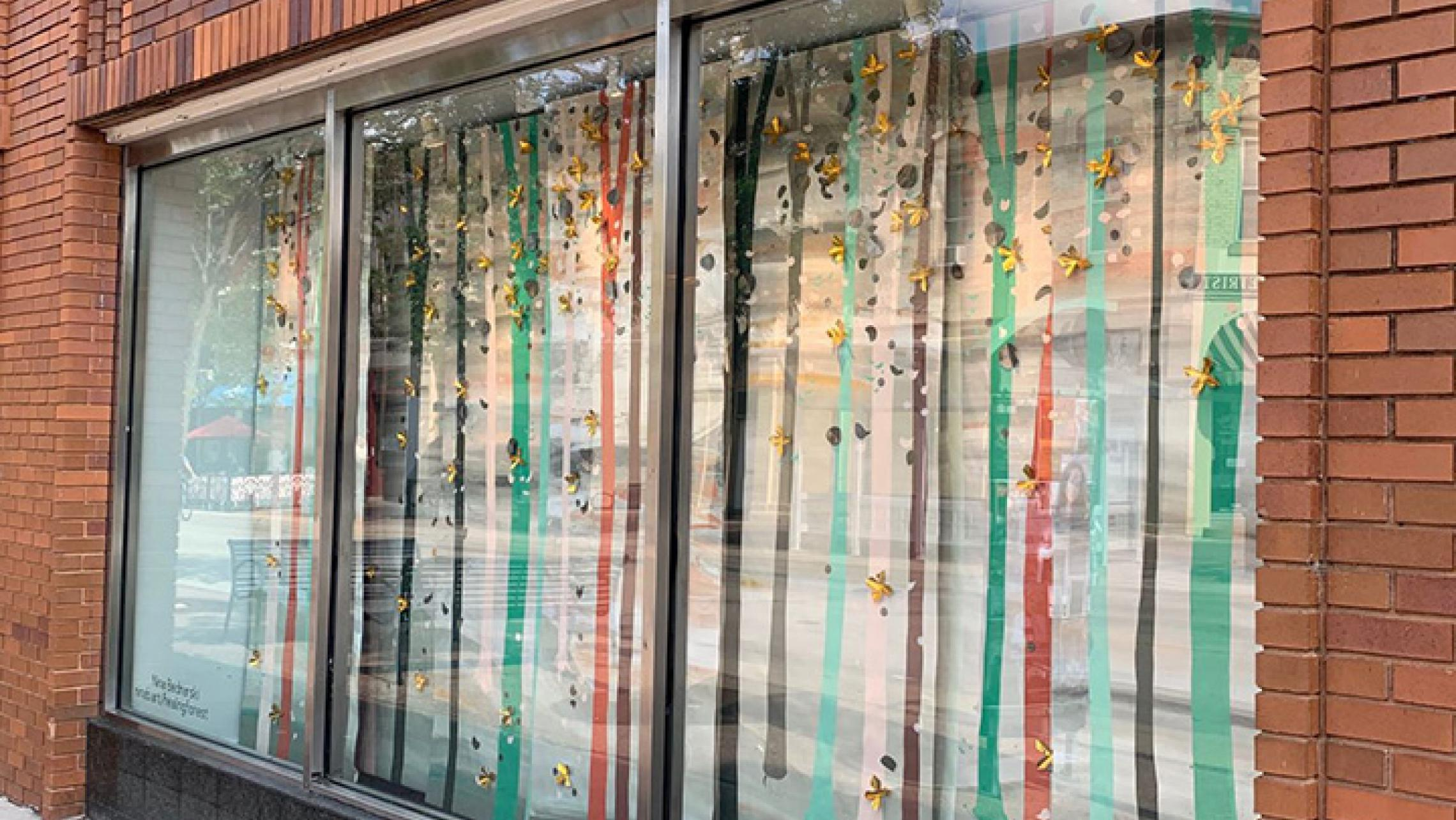 Art installation by Nina Bednarski at ULI's commercial property at 341 State Street