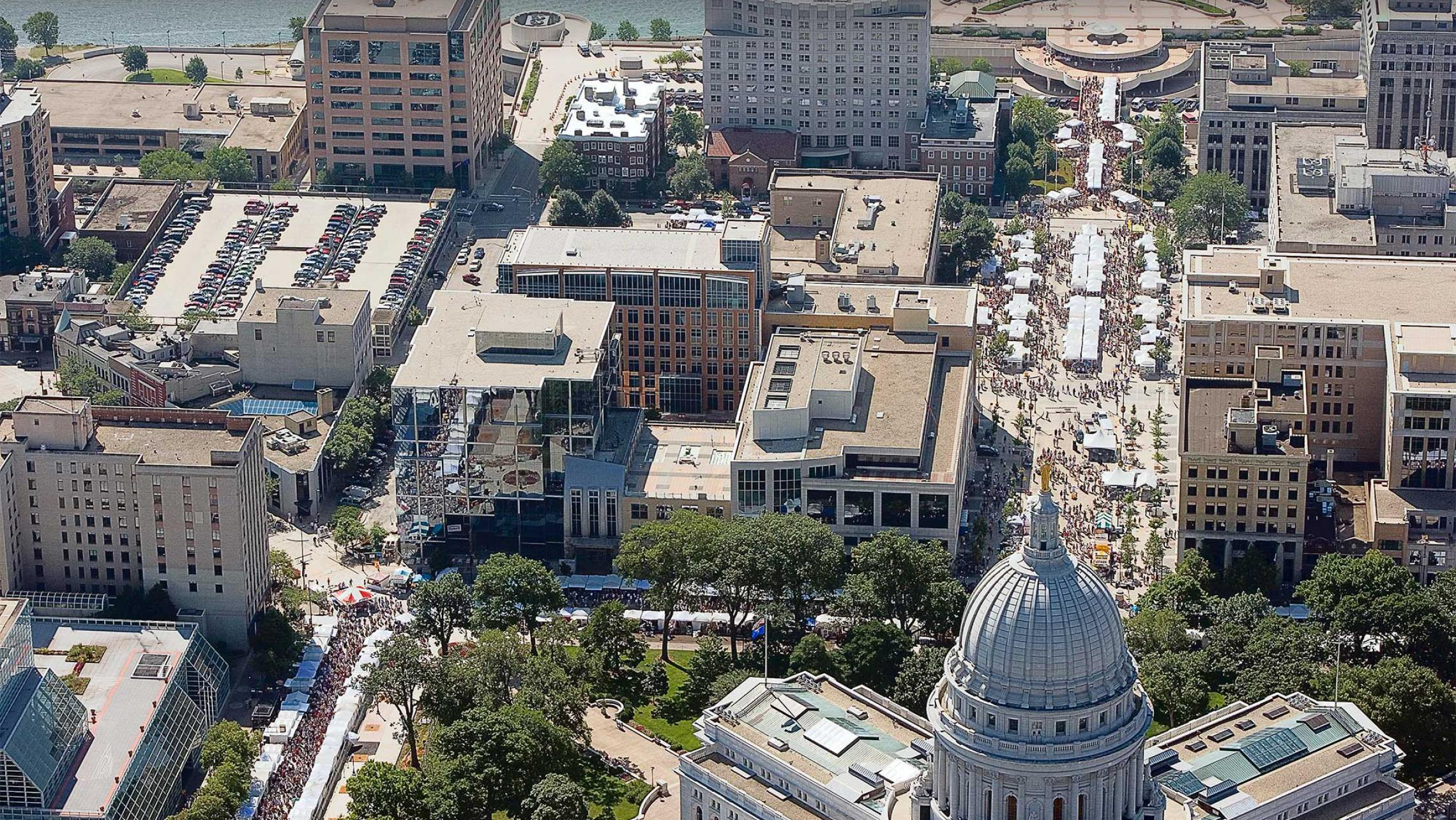 ULI Block 89 - Aerial Image, Art Fair on the Square