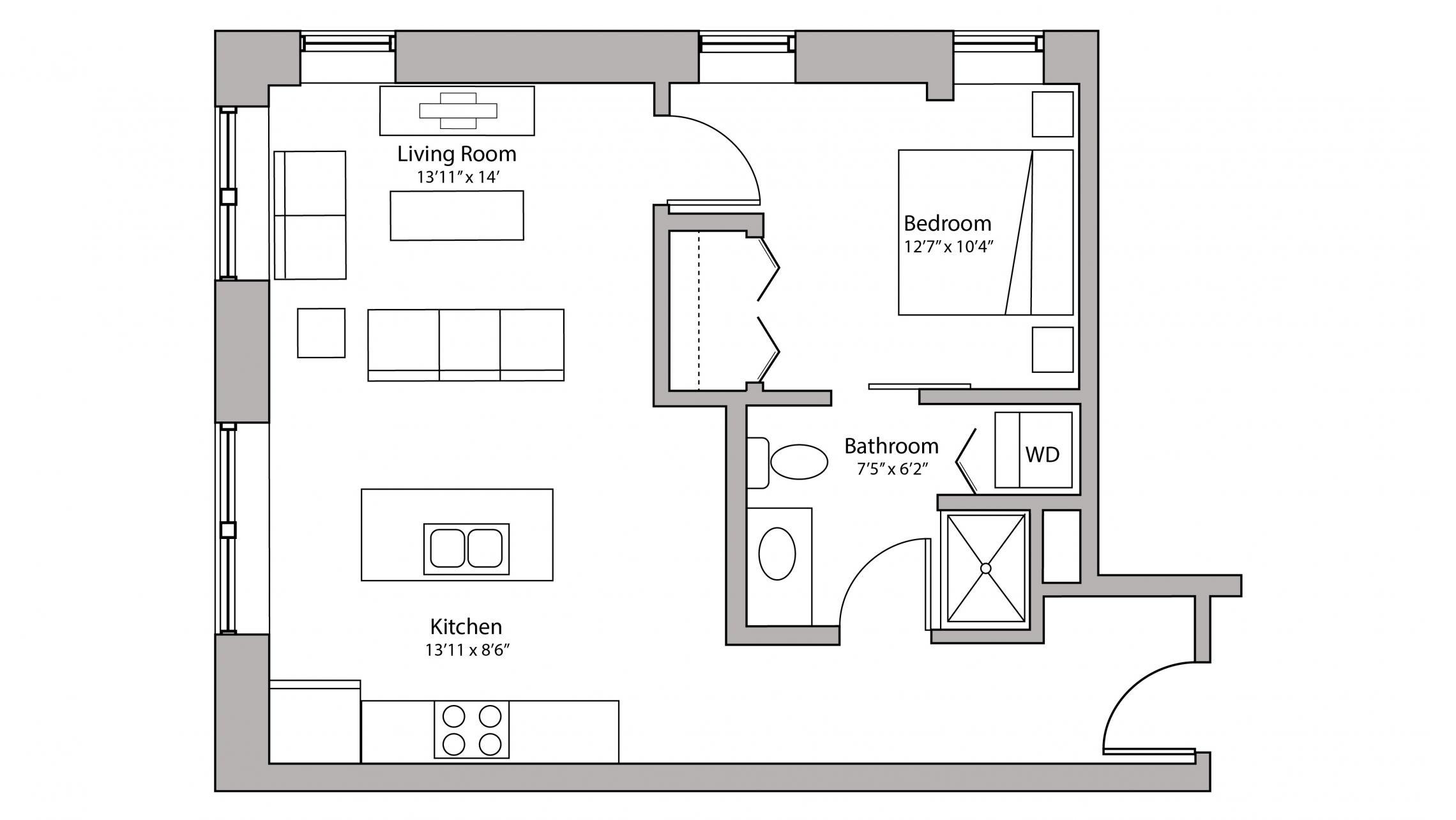 ULI Capitol Hill 307 - One Bedroom, One Bathroom