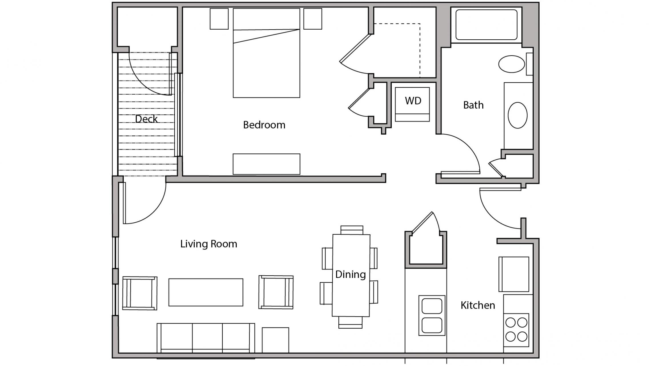 ULI City Place 406 - One Bedroom, One Bathroom
