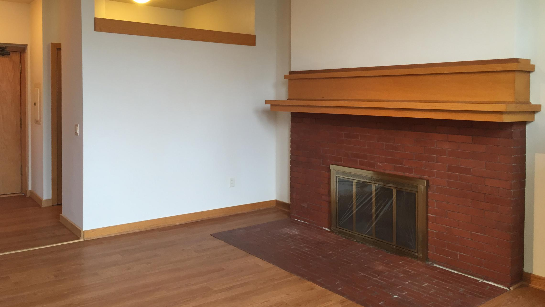 ULI Lincoln School Apartment 405 - Fireplace