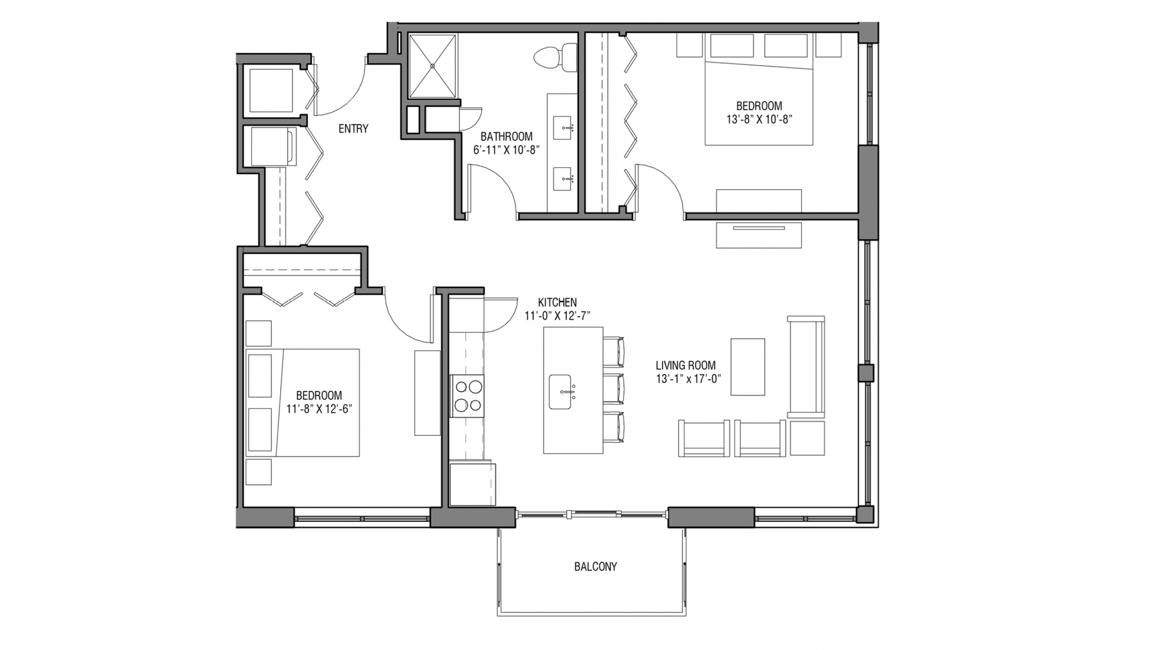 ULI Nine Line 205 - Two Bedroom, One Bathroom