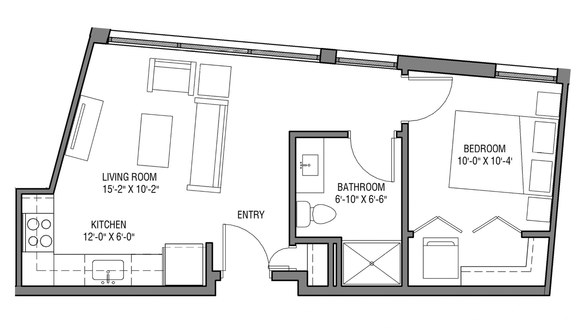 ULI Nine Line 210 - One Bedroom, One Bathroom