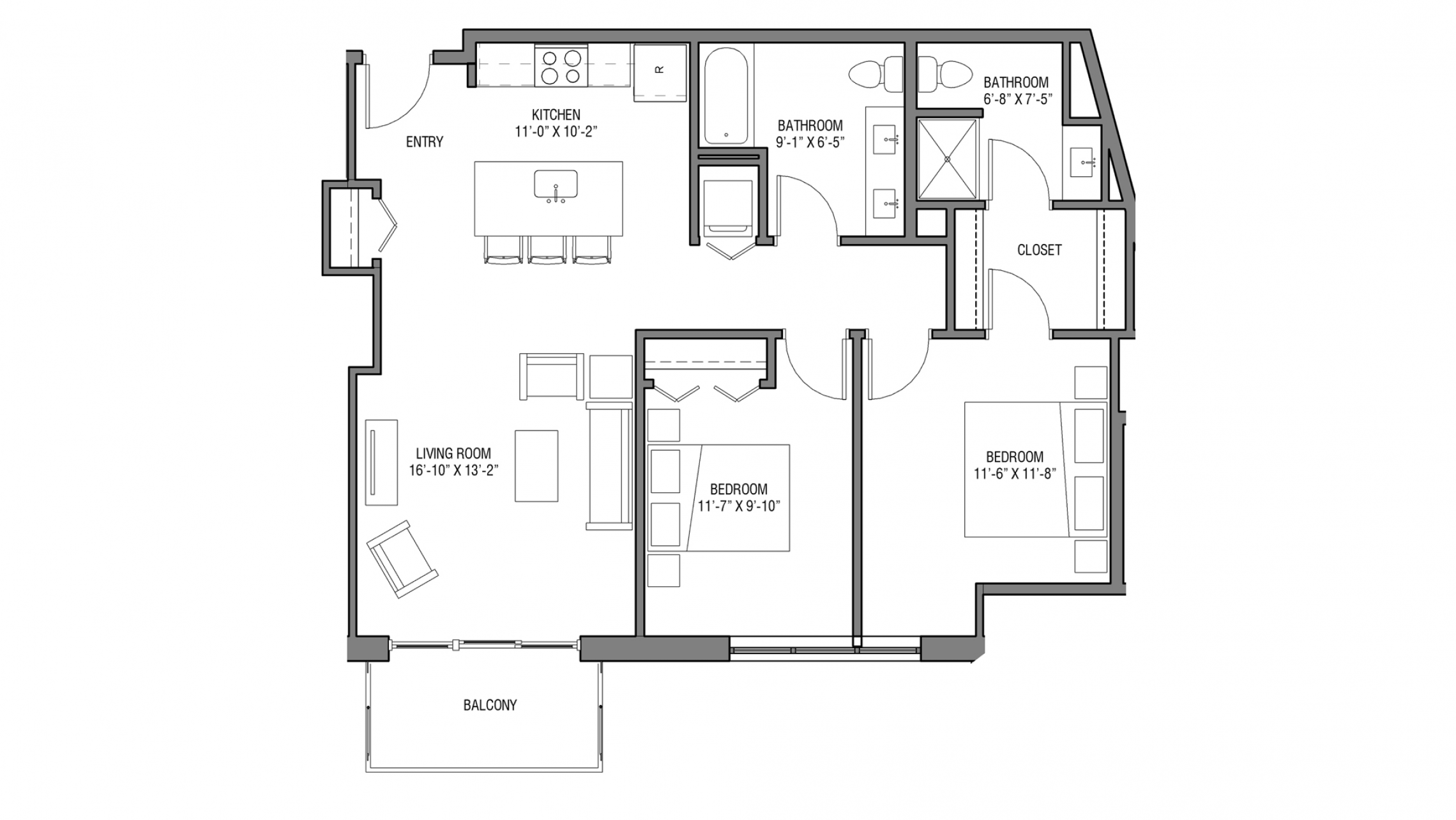 ULI Nine Line 315 - Two Bedroom, Two Bathroom