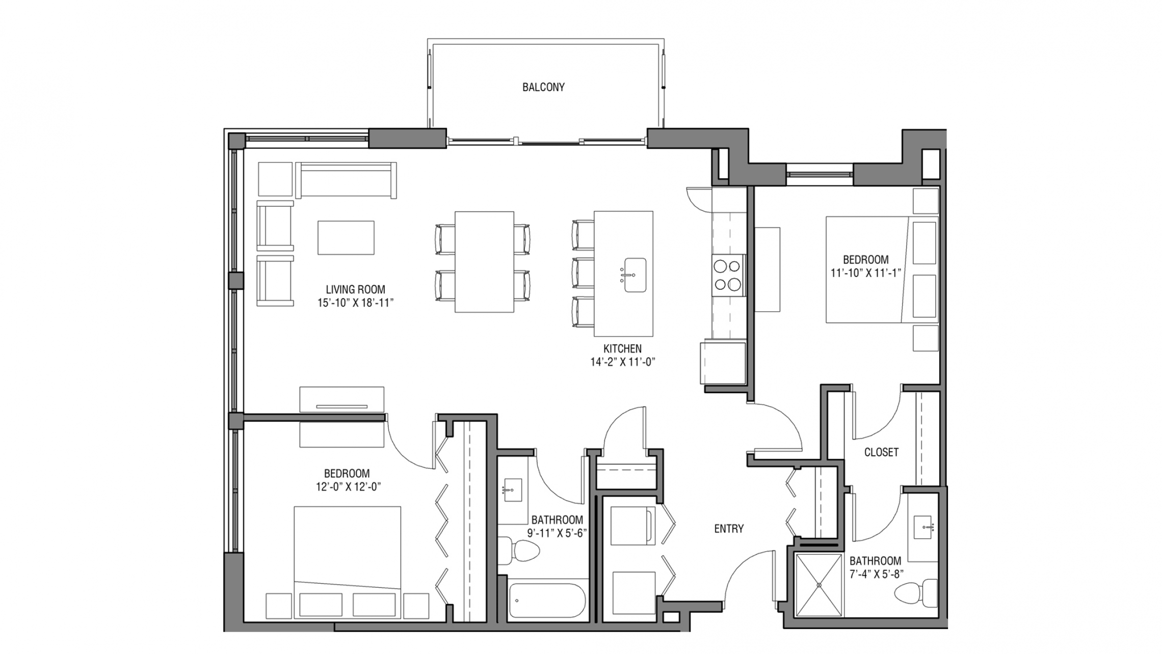 ULI Nine Line 326 - Two Bedroom, Two Bathroom