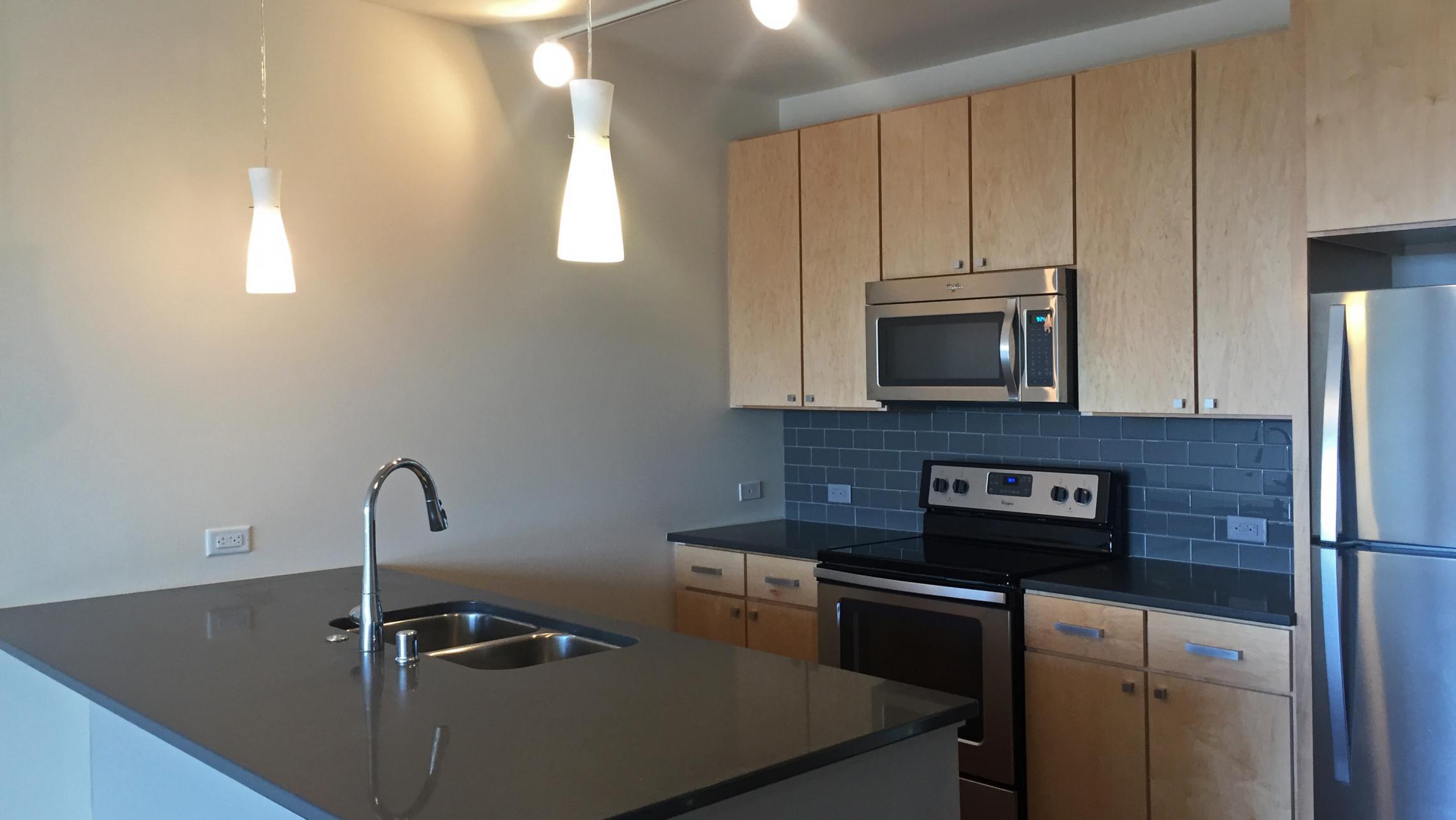 ULI Nine Line Apartment 323 - Kitchen Island