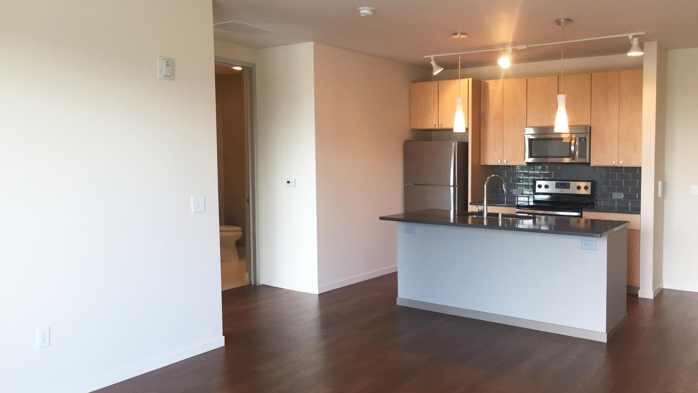 ULI Nine Line Apartment 507 - Kitchen with Stainless Steel Appliances