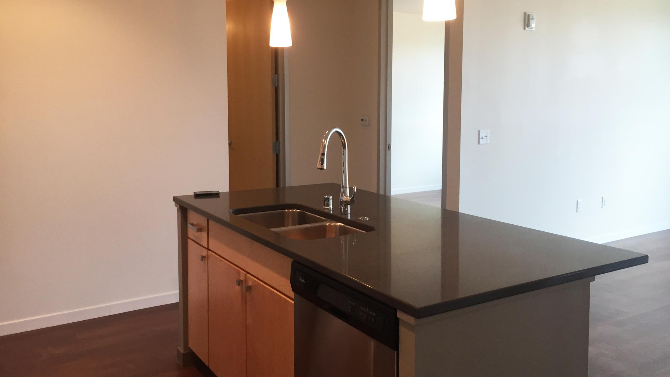 ULI Nine Line Apartment 518 - Kitchen Island