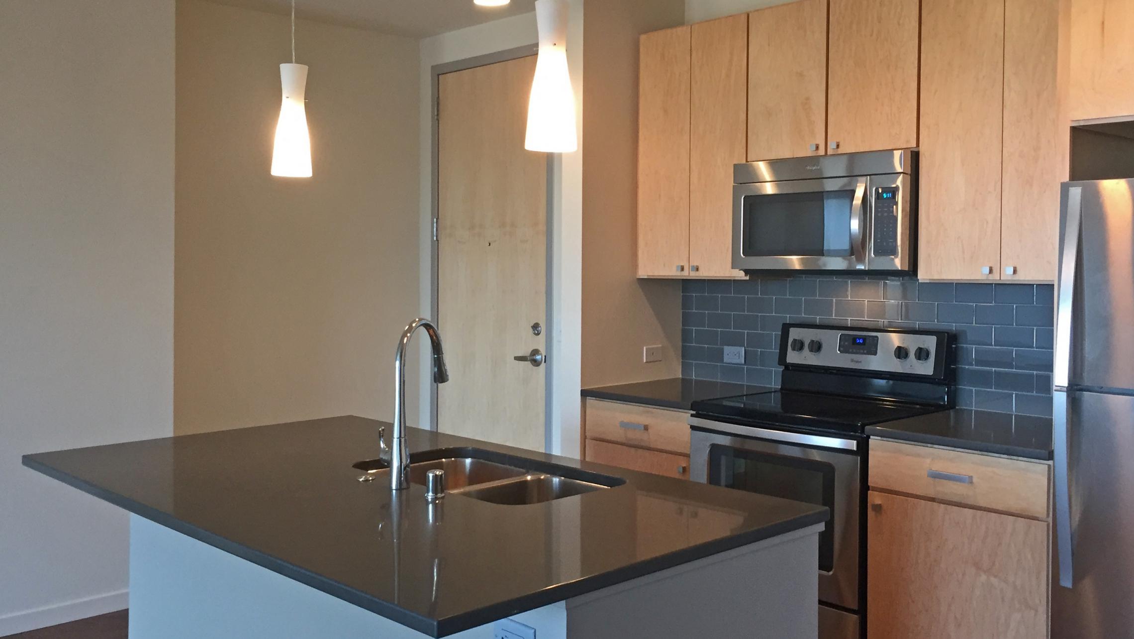 ULI Nine Line Apartment 519 - Kitchen Stainless Steel Appliances